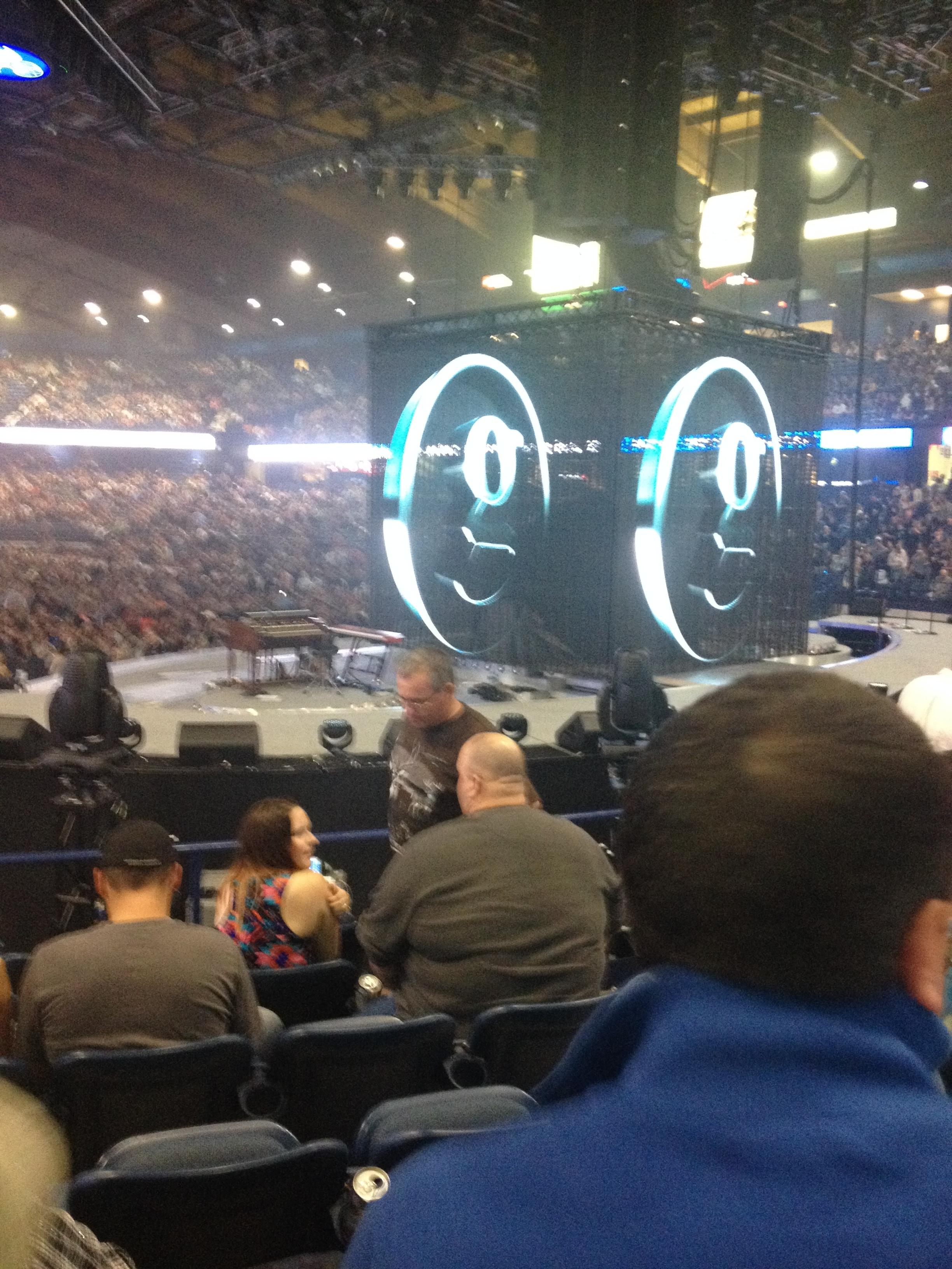 Concert Seat View for Allstate Arena Section 108, Row k, Seat 3