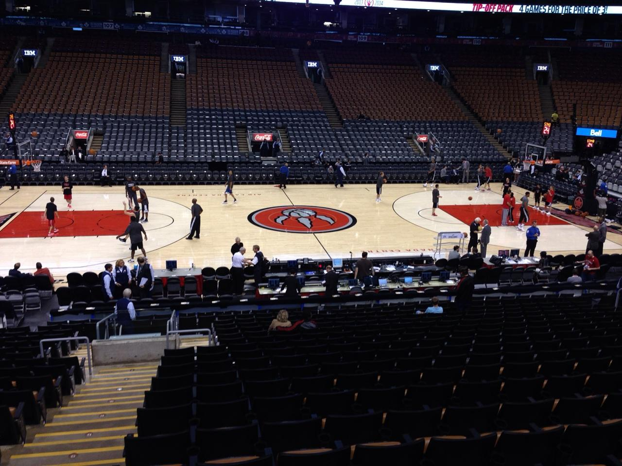 Toronto Raptors Seat View for Air Canada Centre Section 120, Row 20, Seat 42