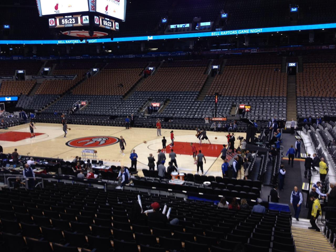 Toronto Raptors Seat View for Air Canada Centre Section 117, Row 20, Seat 1