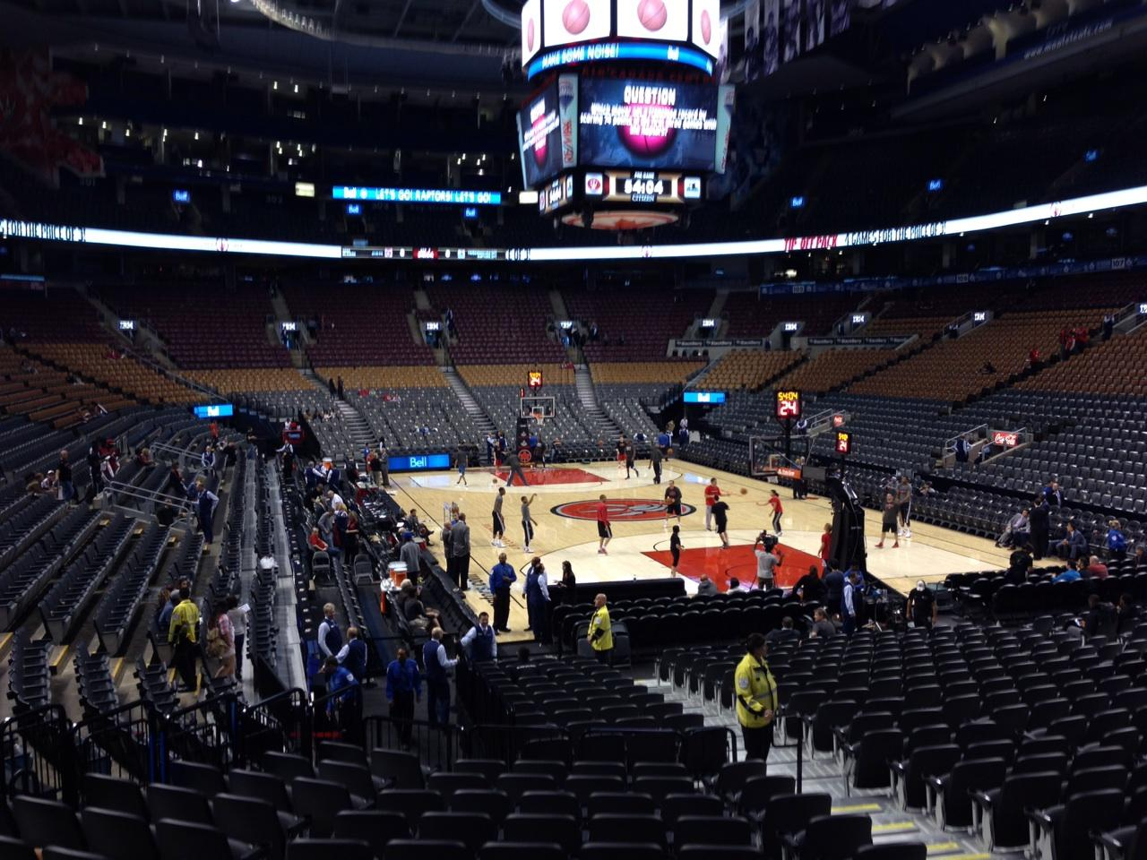 Toronto Raptors Seat View for Air Canada Centre Section 115, Row 20, Seat 9
