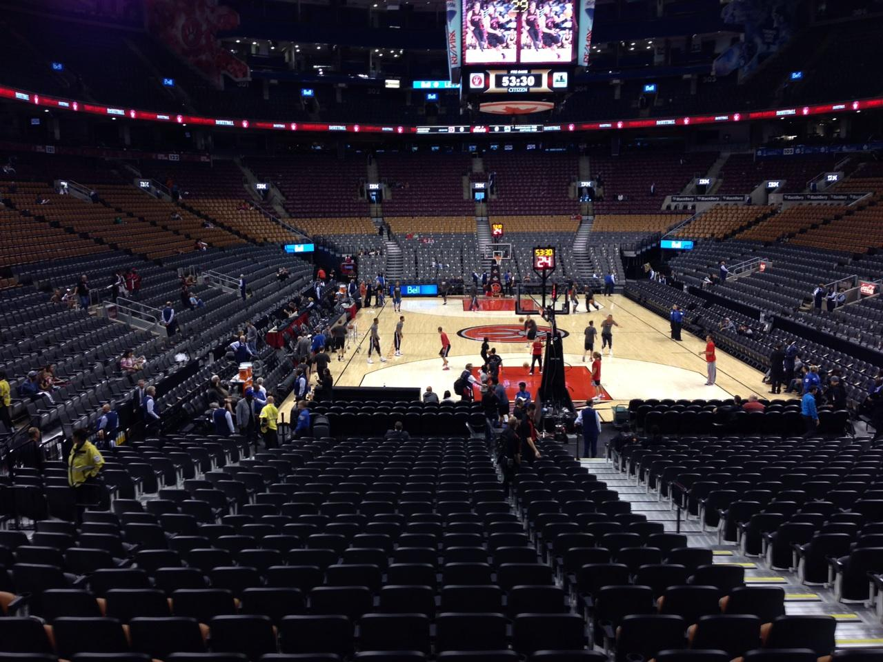 Toronto Raptors Seat View for Air Canada Centre Section 114, Row 18, Seat 6