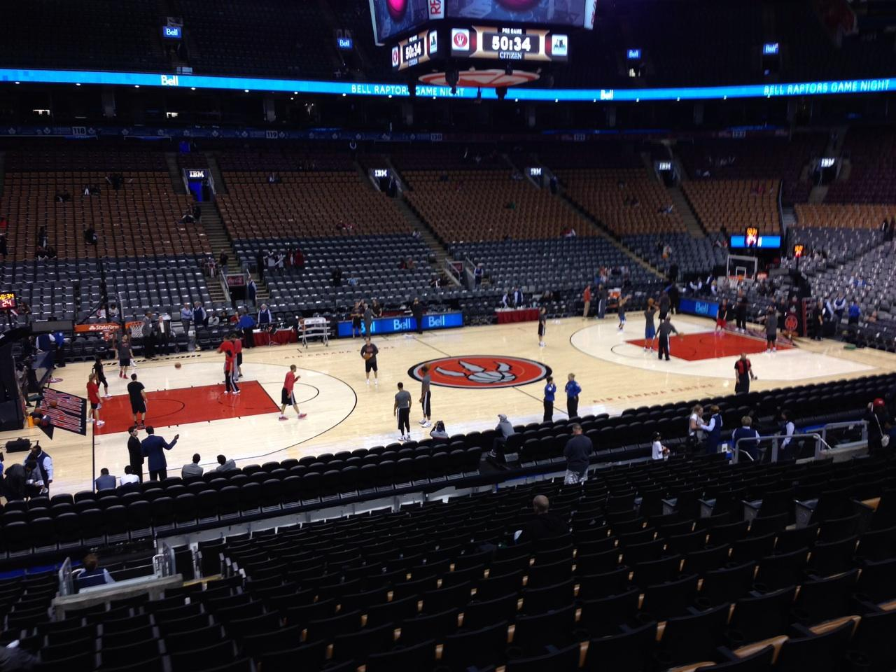 Toronto Raptors Seat View for Air Canada Centre Section 109, Row 20, Seat 11