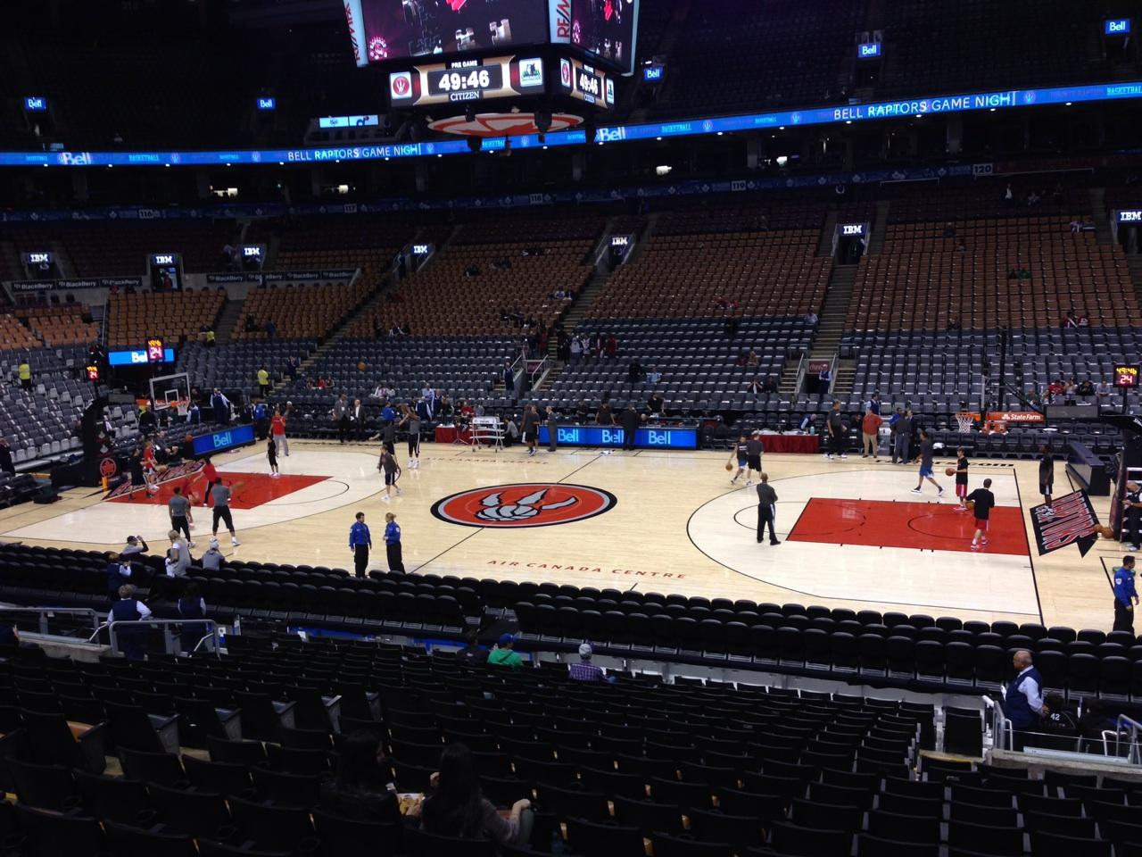 Toronto Raptors Seat View for Air Canada Centre Section 107, Row 20, Seat 11