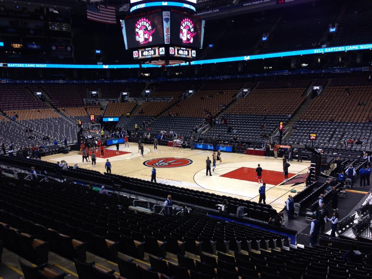 Toronto Raptors Seat View for Air Canada Centre Section 106, Row 21, Seat 10