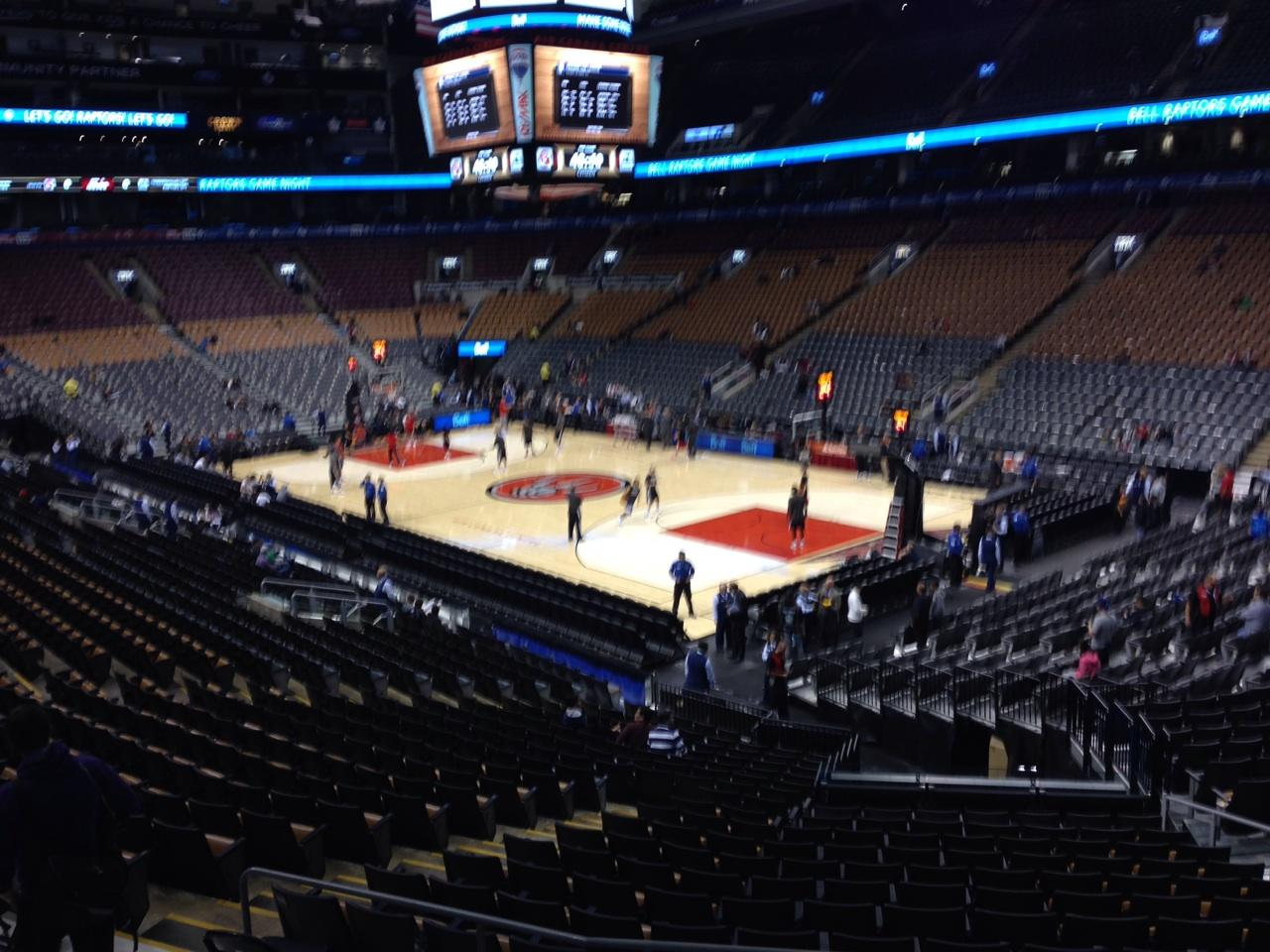 Toronto Raptors Seat View for Air Canada Centre Section 105, Row 23, Seat 12