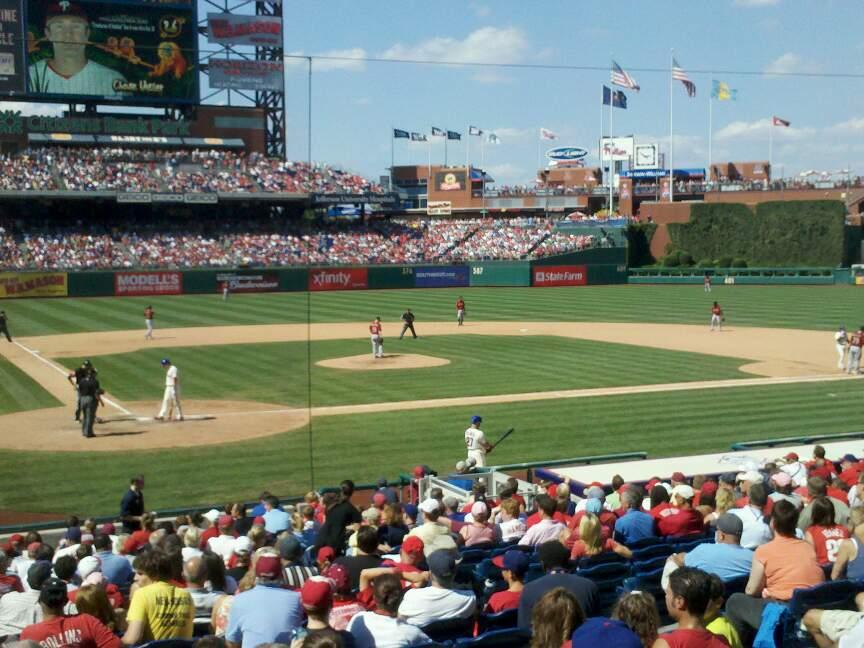 Citizens Bank Park Section 120 Row 21 Seat 14