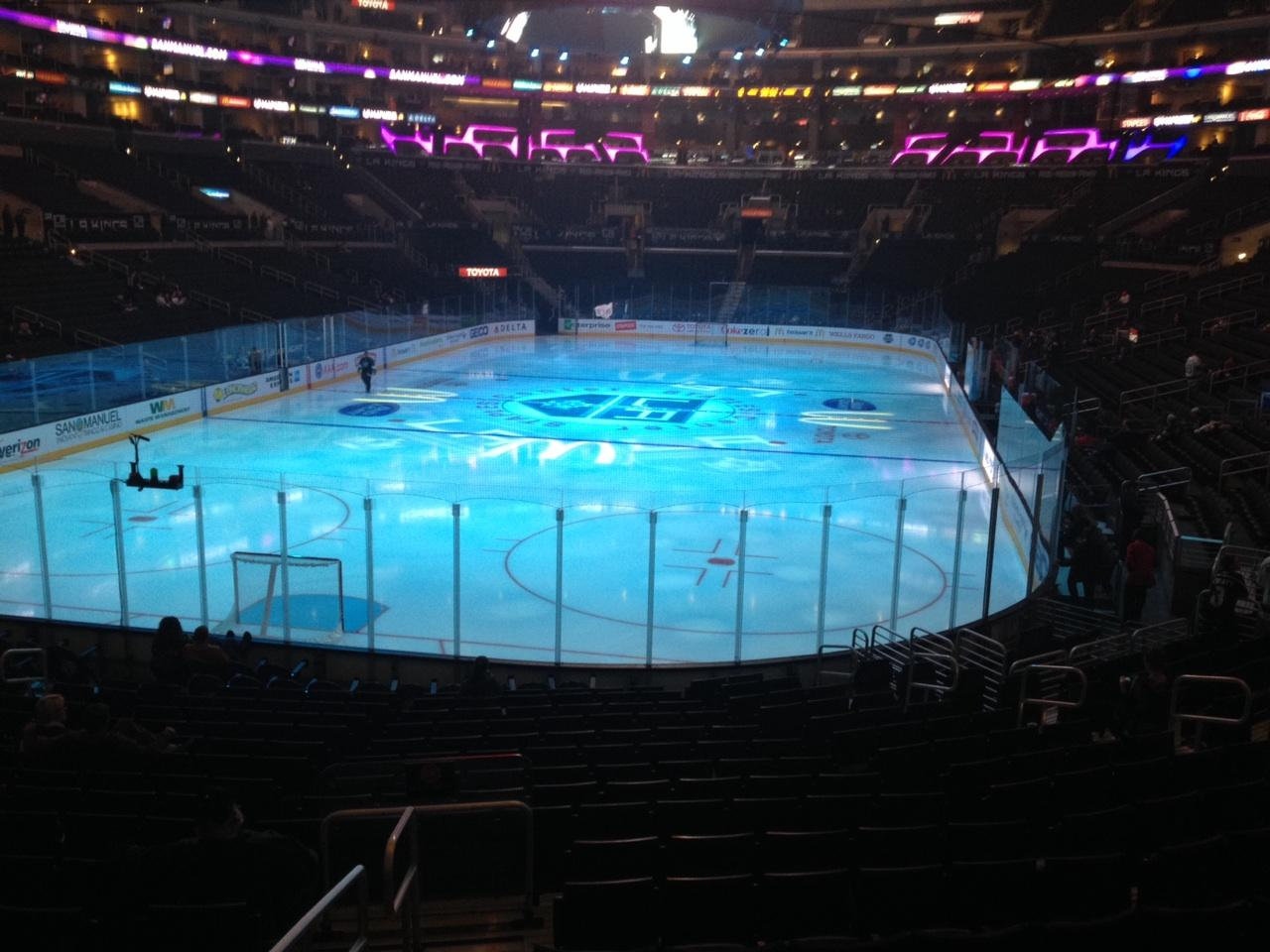 Staples Center Section 106 Row 20 Seat 17