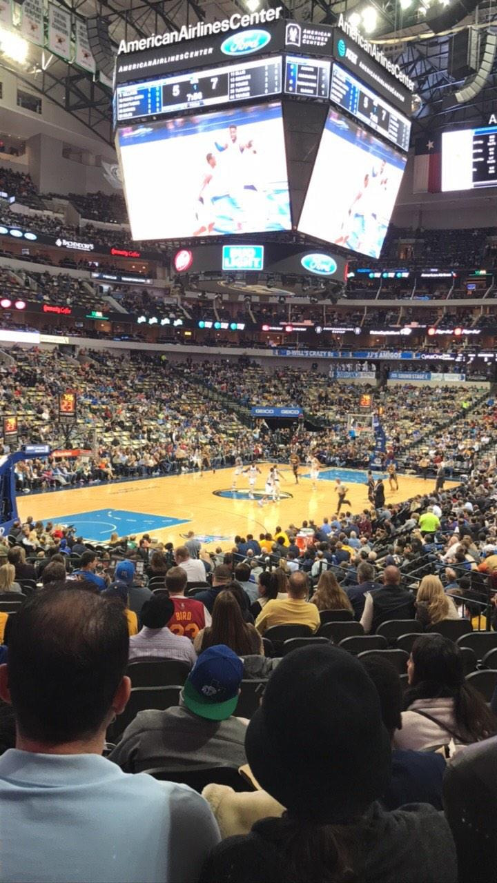 American Airlines Center Section 122 Row T Seat 15
