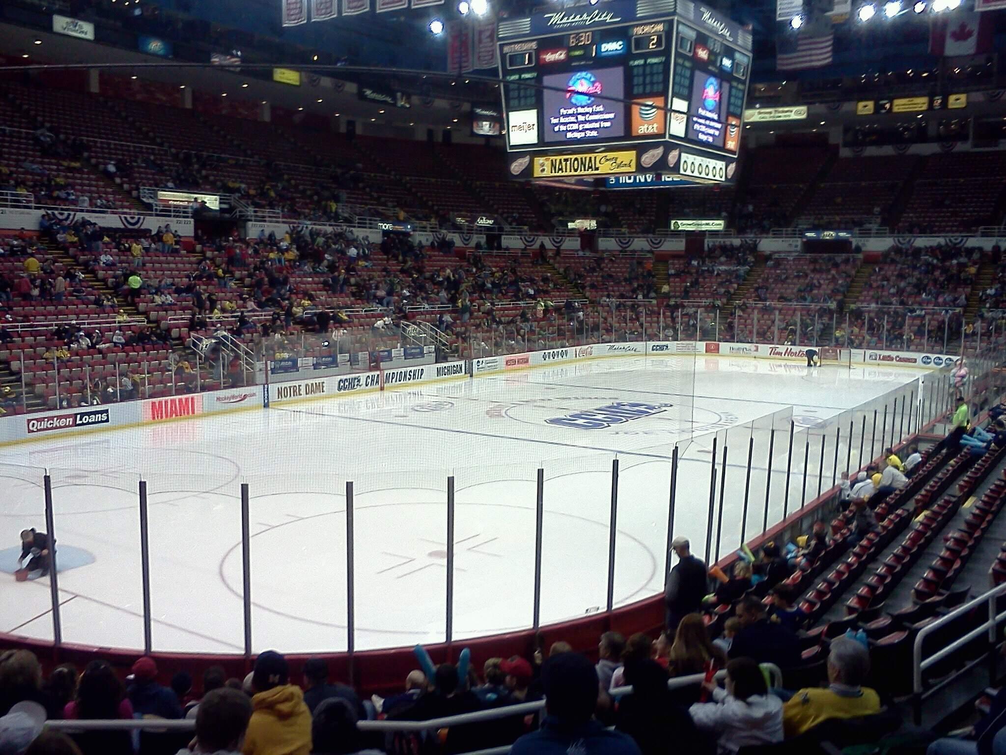 Joe Louis Arena Section 112 Row 14 Seat 6