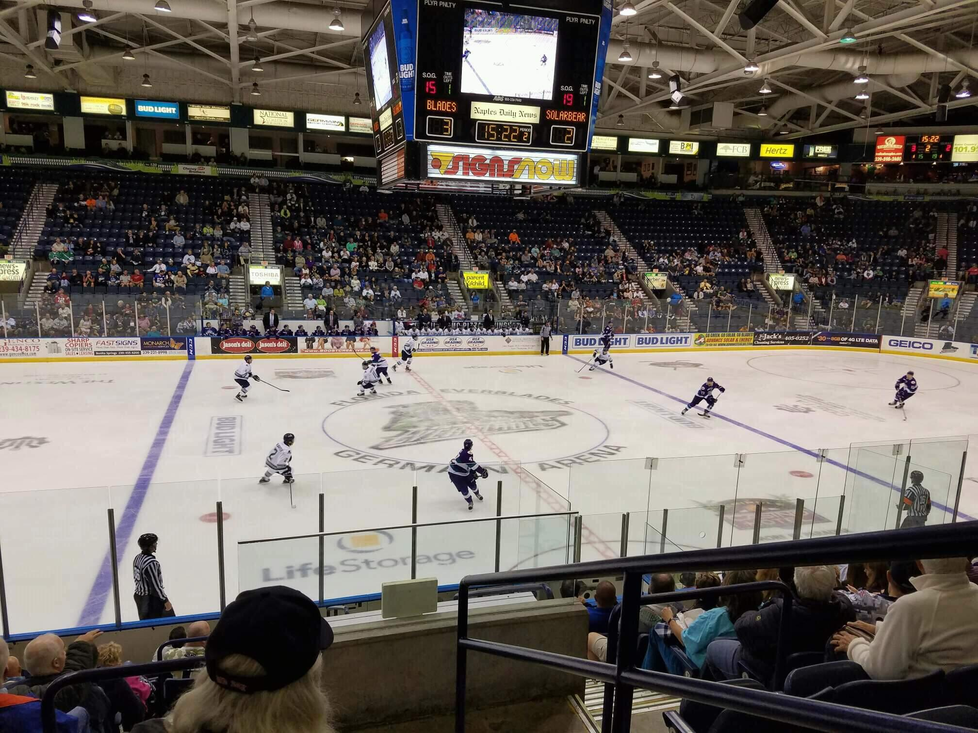 Germain Arena Section 112 Row 12 Seat 1