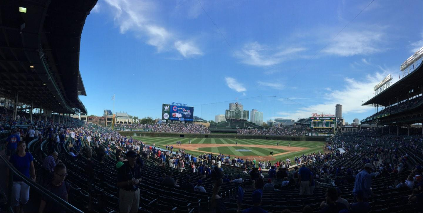 Wrigley Field Section 219 Row 1 Seat 13