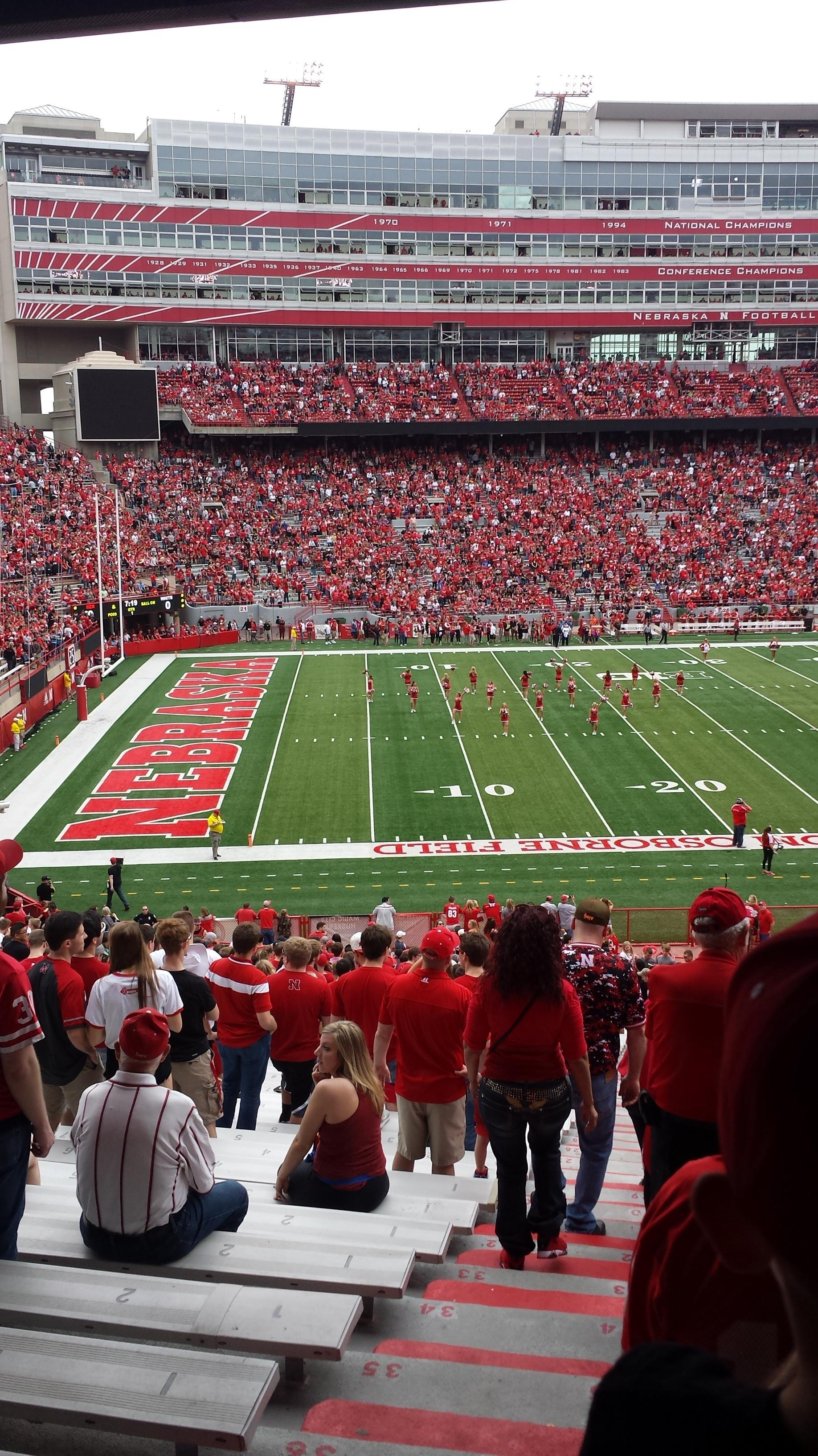Memorial Stadium (Lincoln) Section 9 Row 40 Seat 24