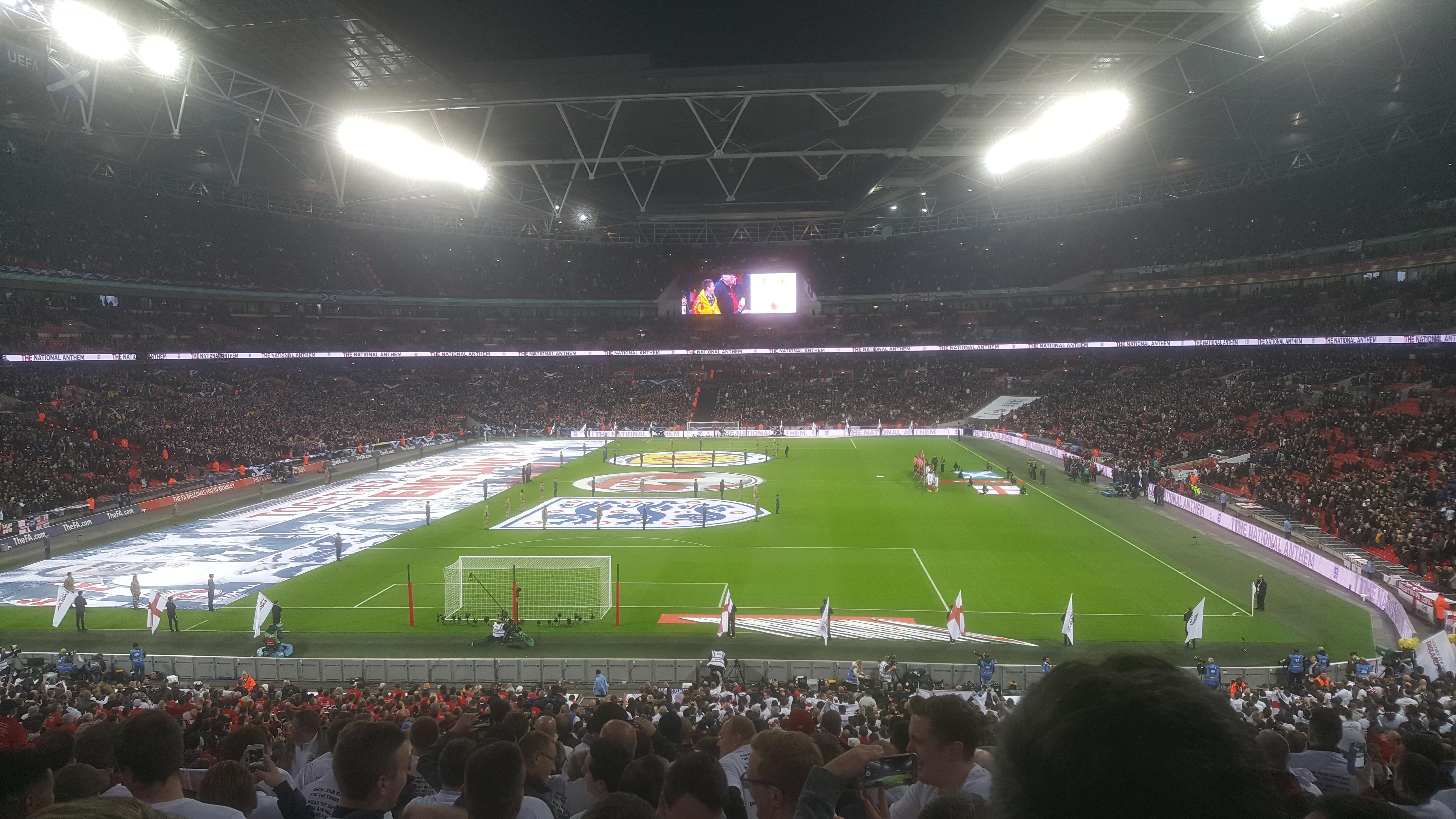 Wembley Stadium Section 111 Row 44 ( back )