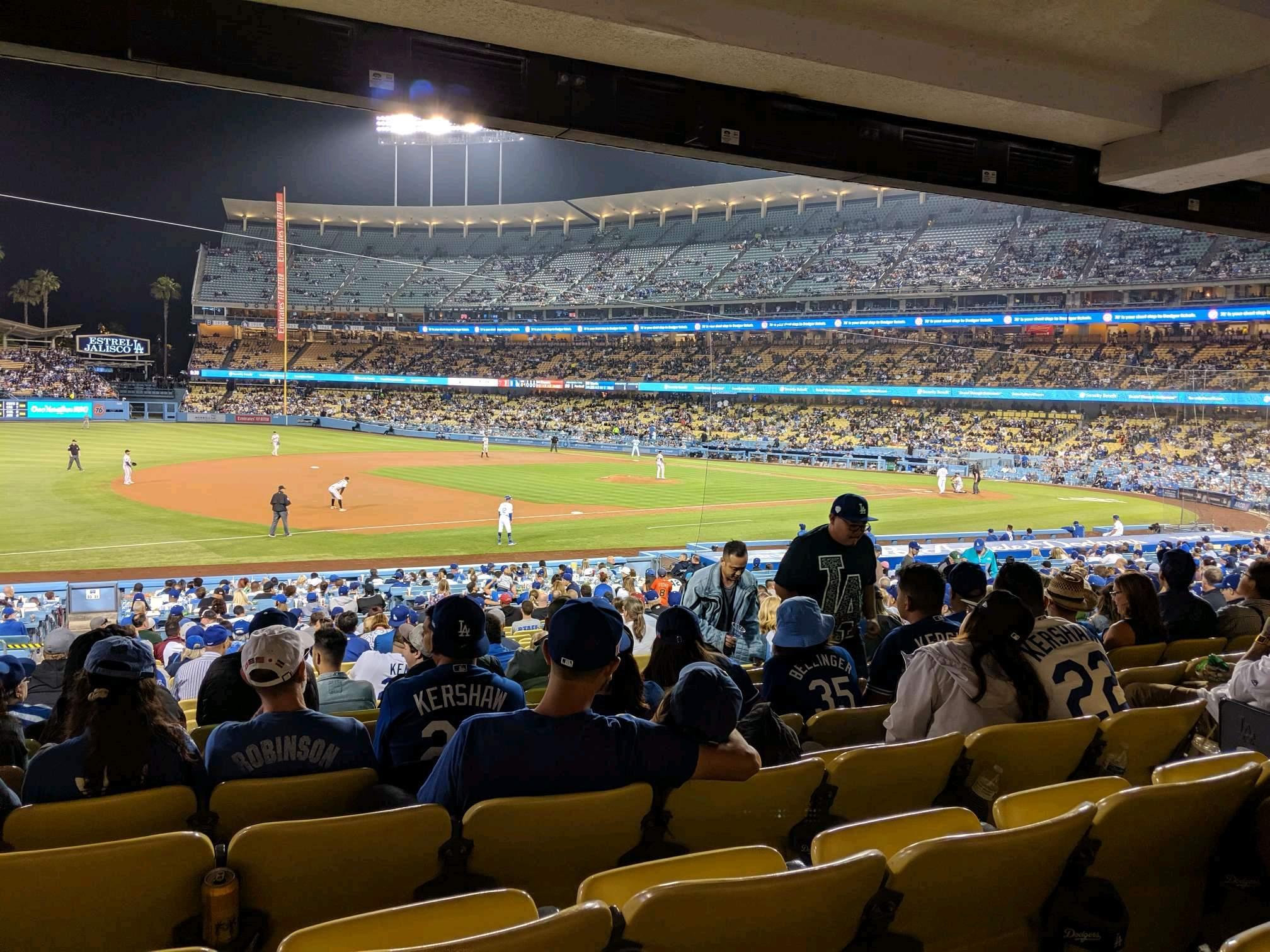 Dodger Stadium Section 31FD Row W Seat 7