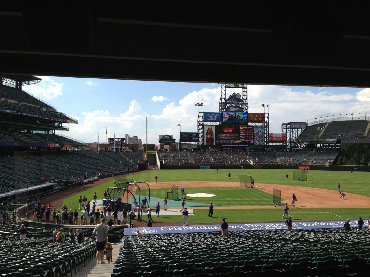 Coors Field Section 125 Row 38 Seat 12