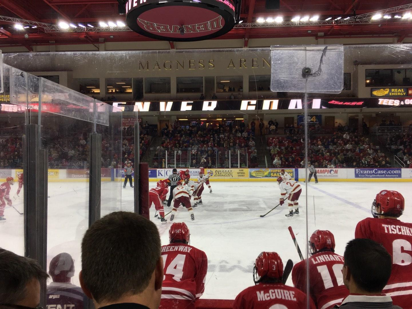 Magness Arena Section 1 Row 4 Seat 5