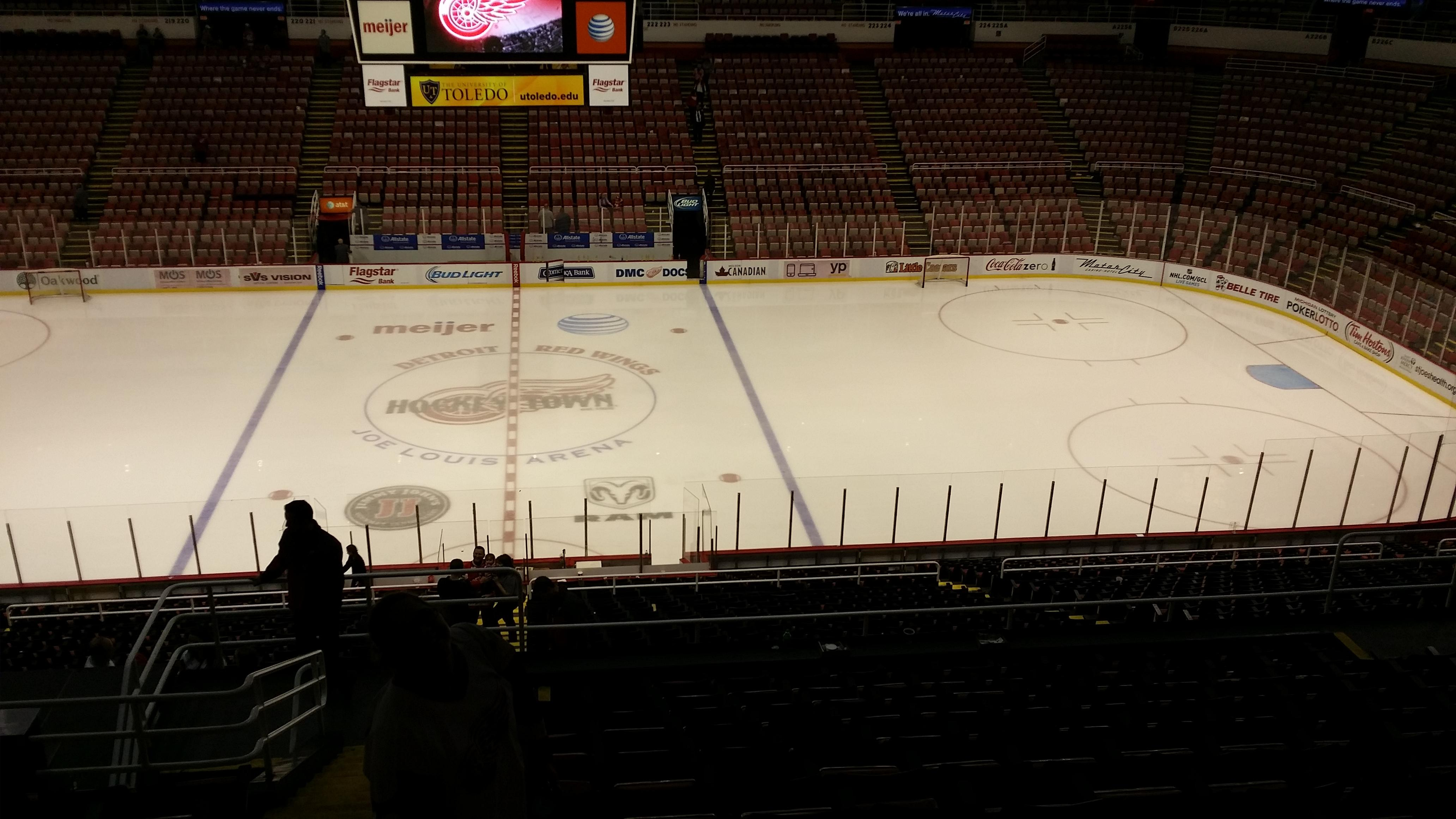 Joe Louis Arena Section 207 Row 13 Seat 15 Detroit Red