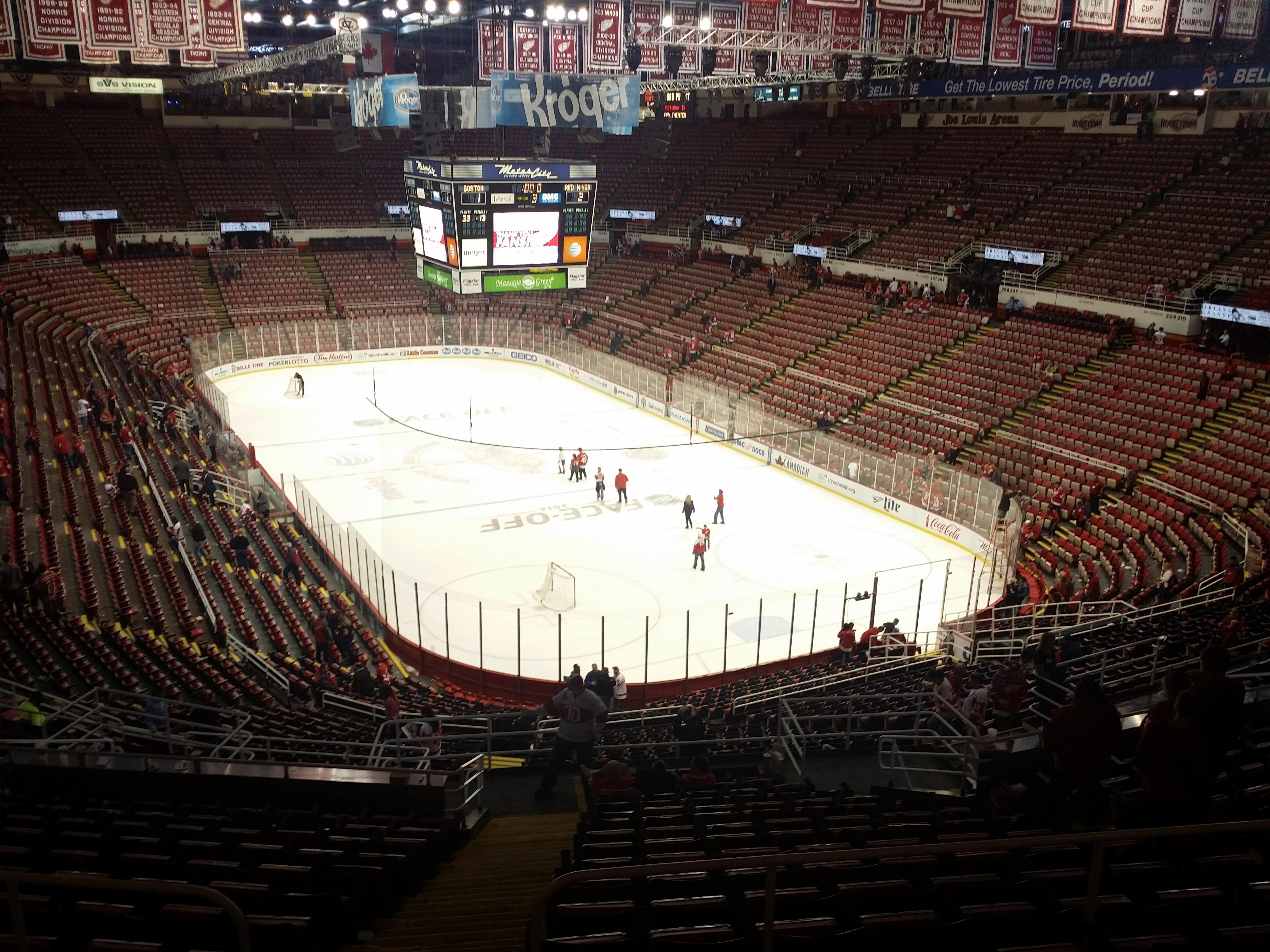 Joe Louis Arena Section 216b Row 18 Seat 15 Detroit Red