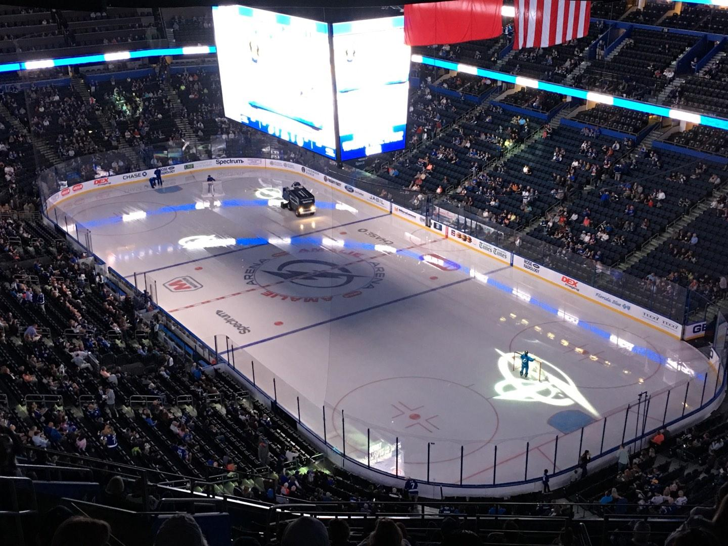 Amalie Arena Section 326 Row S Seat 24