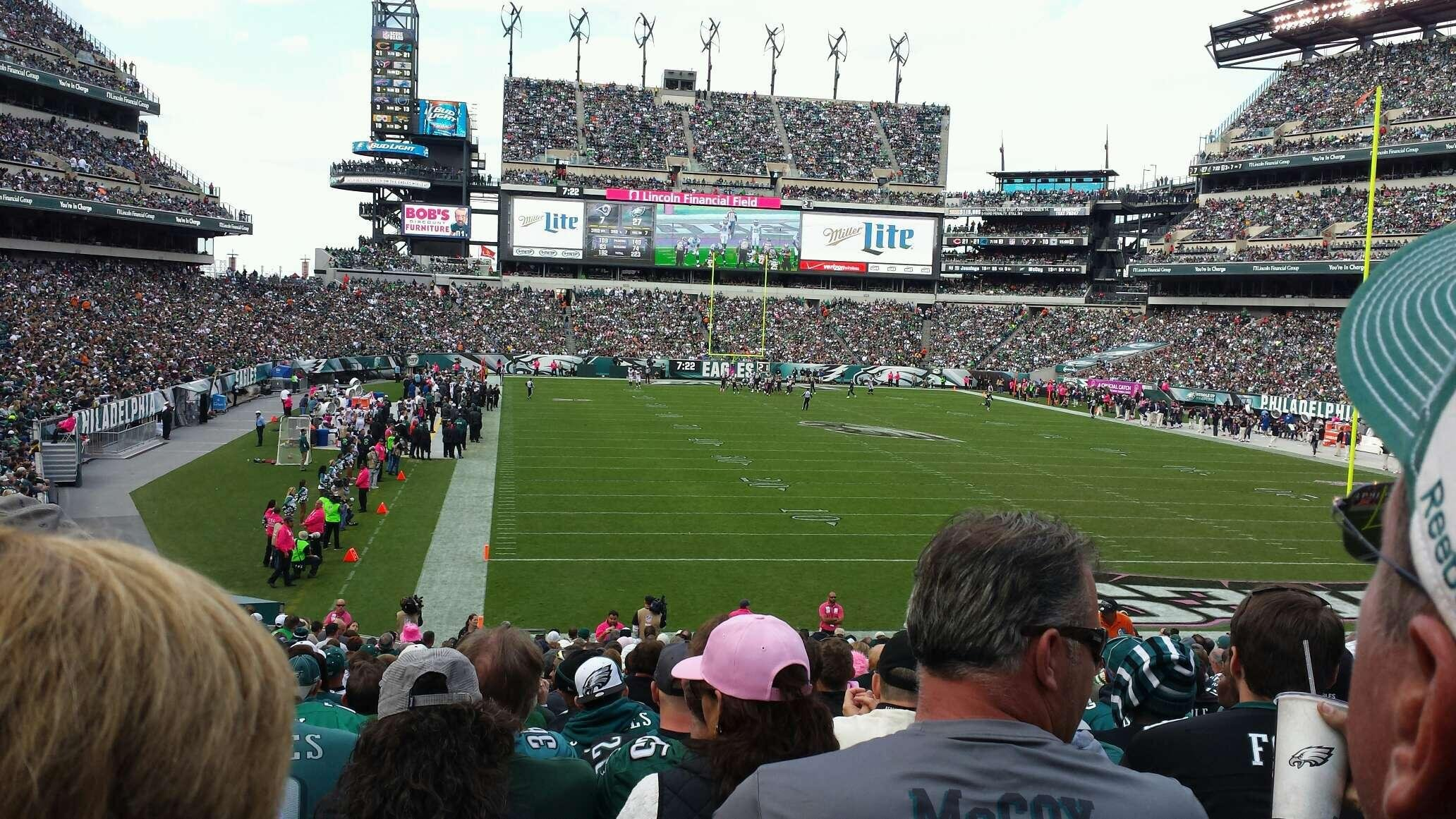 Lincoln Financial Field Section 109 Philadelphia Eagles