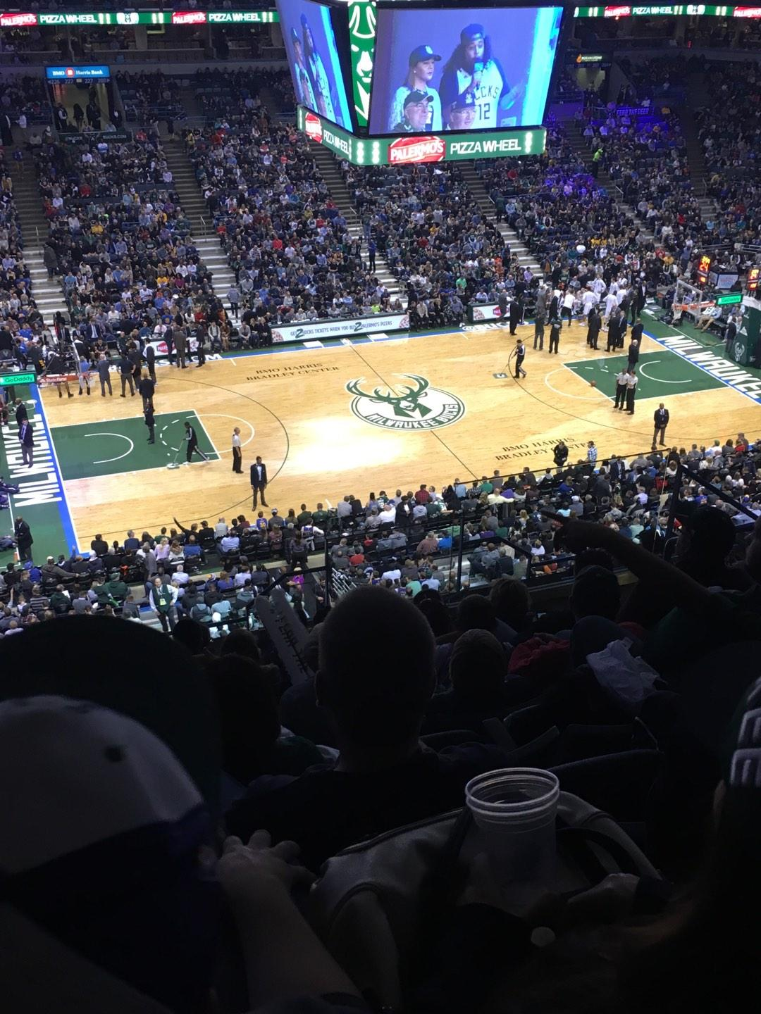 BMO Harris Bradley Center Section 424 Row M Seat 6