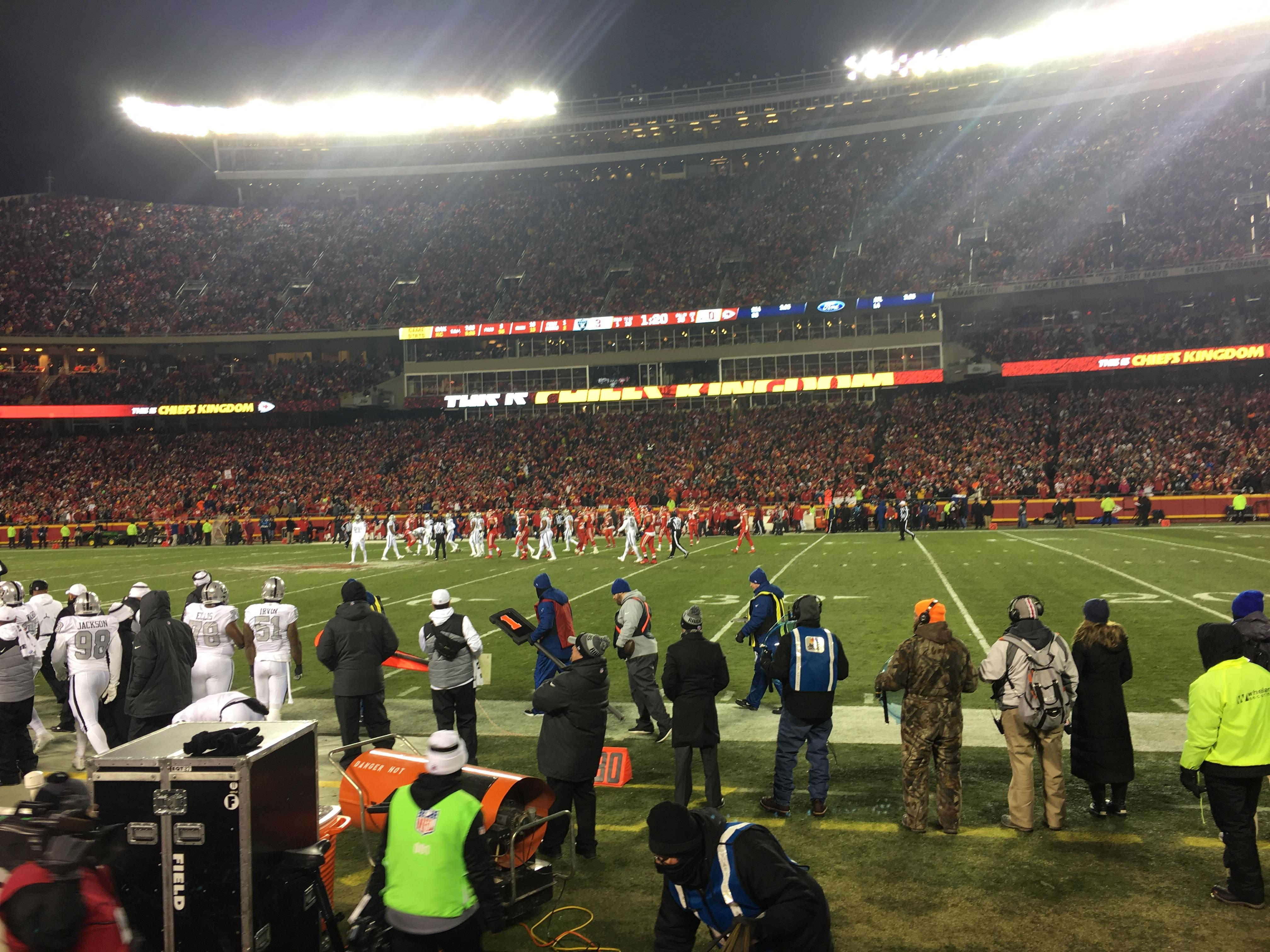 Arrowhead Stadium Section 135 Row 2 Seat 22