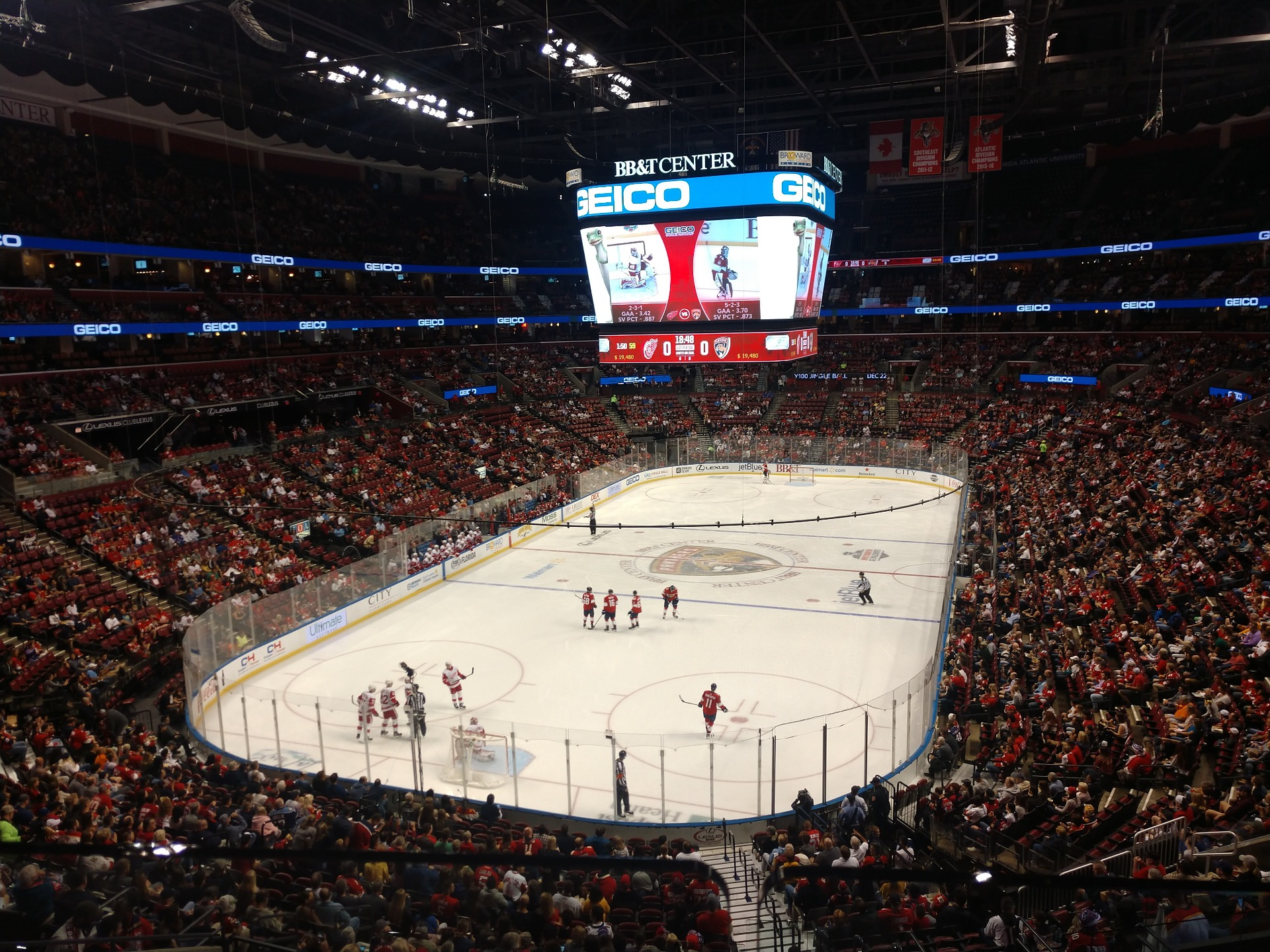 BB&T Center Section CL25 Row 1 Seat 11