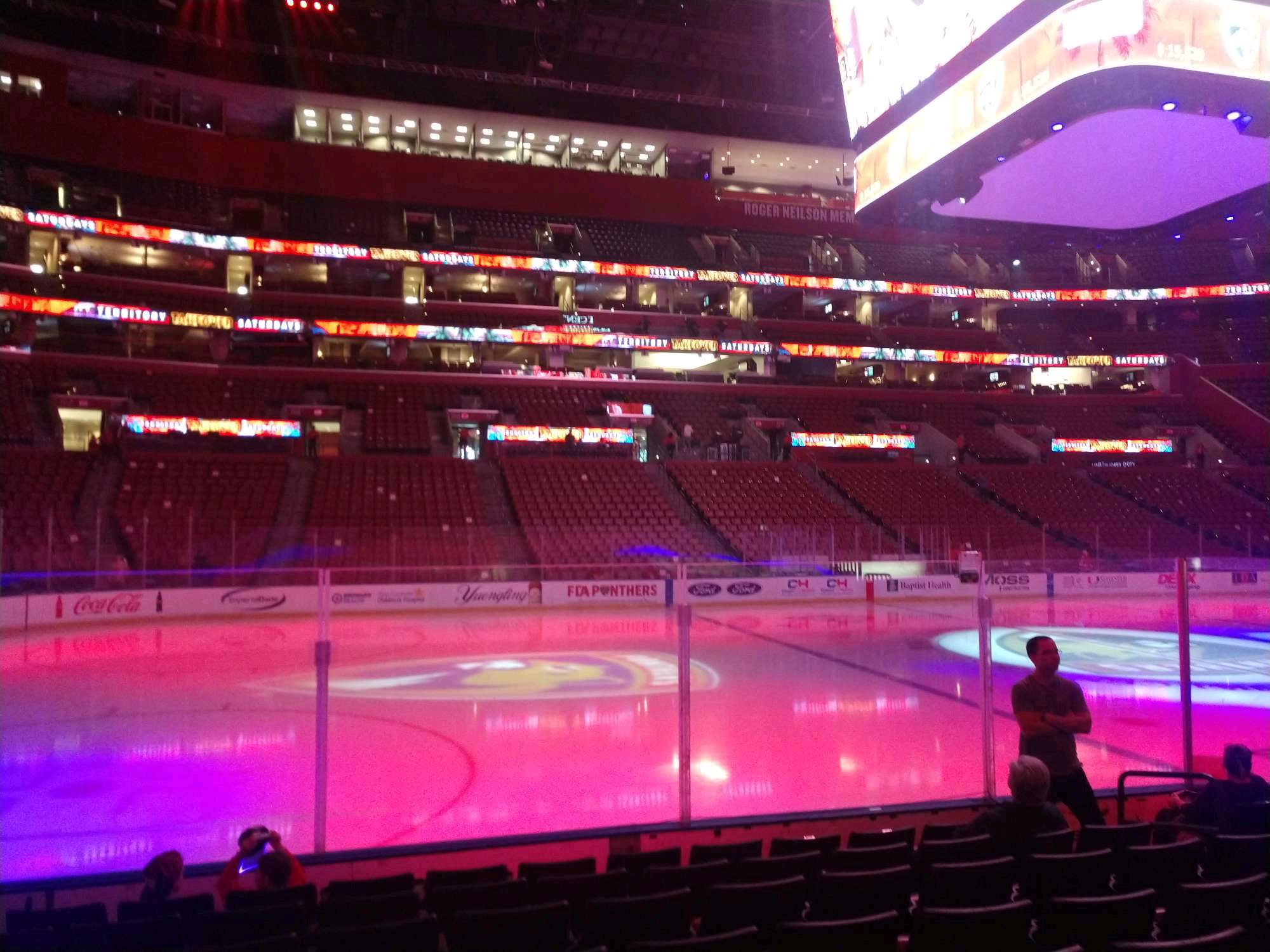 BB&T Center Section 103 Row 8 Seat 9