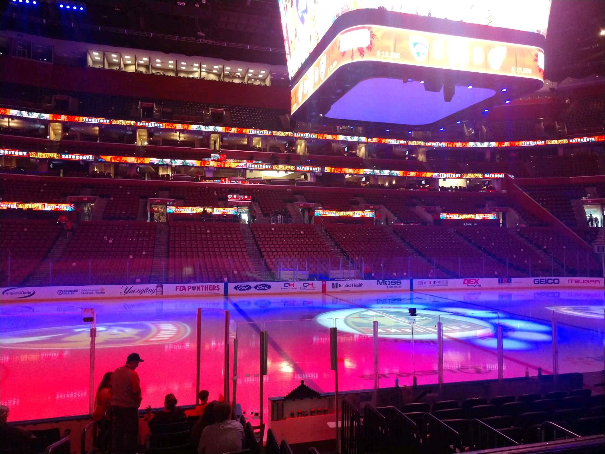 BB&T Center Section 102 Row 11 Seat 14