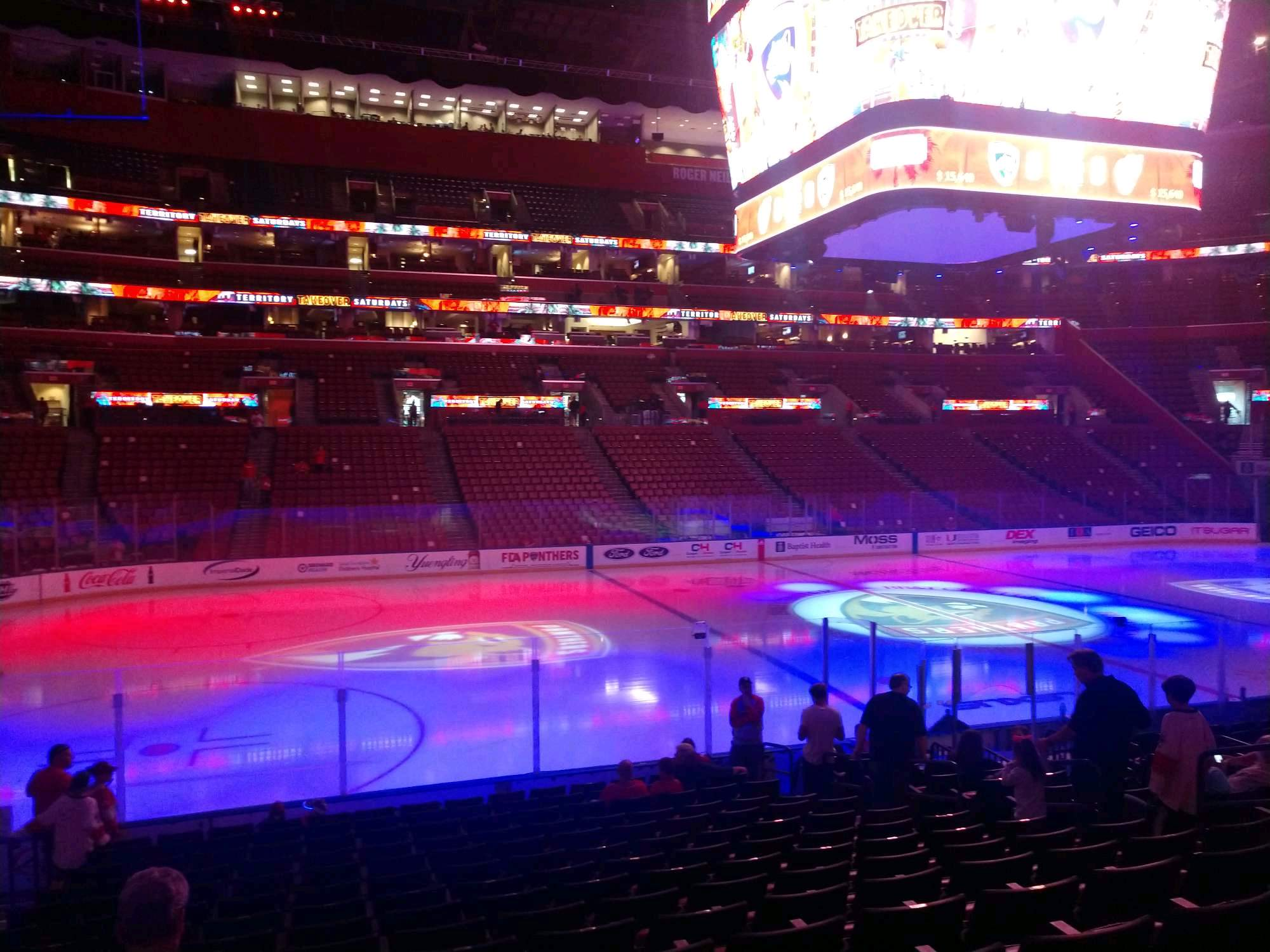BB&T Center Section 103 Row 15 Seat 10