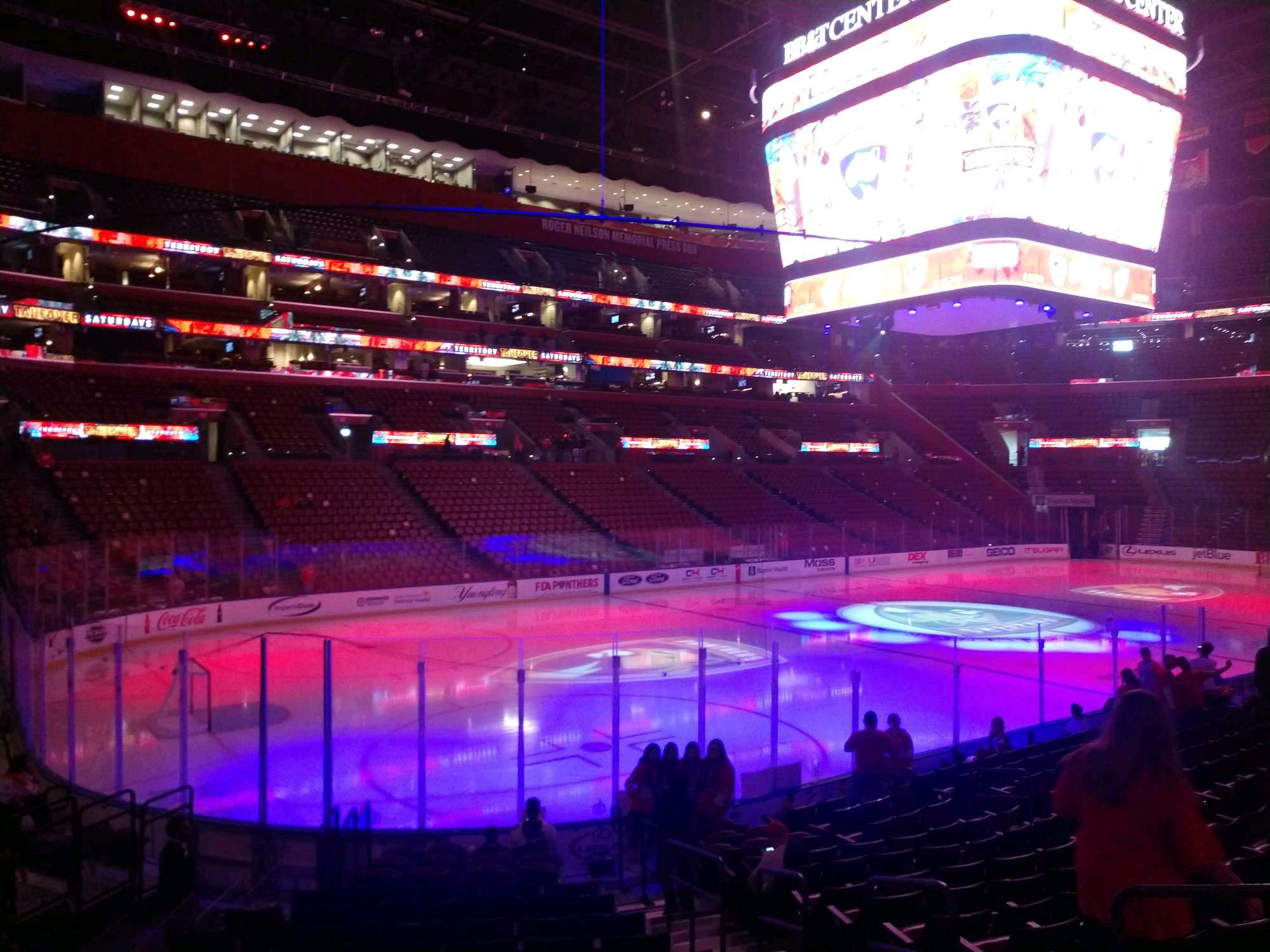 BB&T Center Section 105 Row 15 Seat 6
