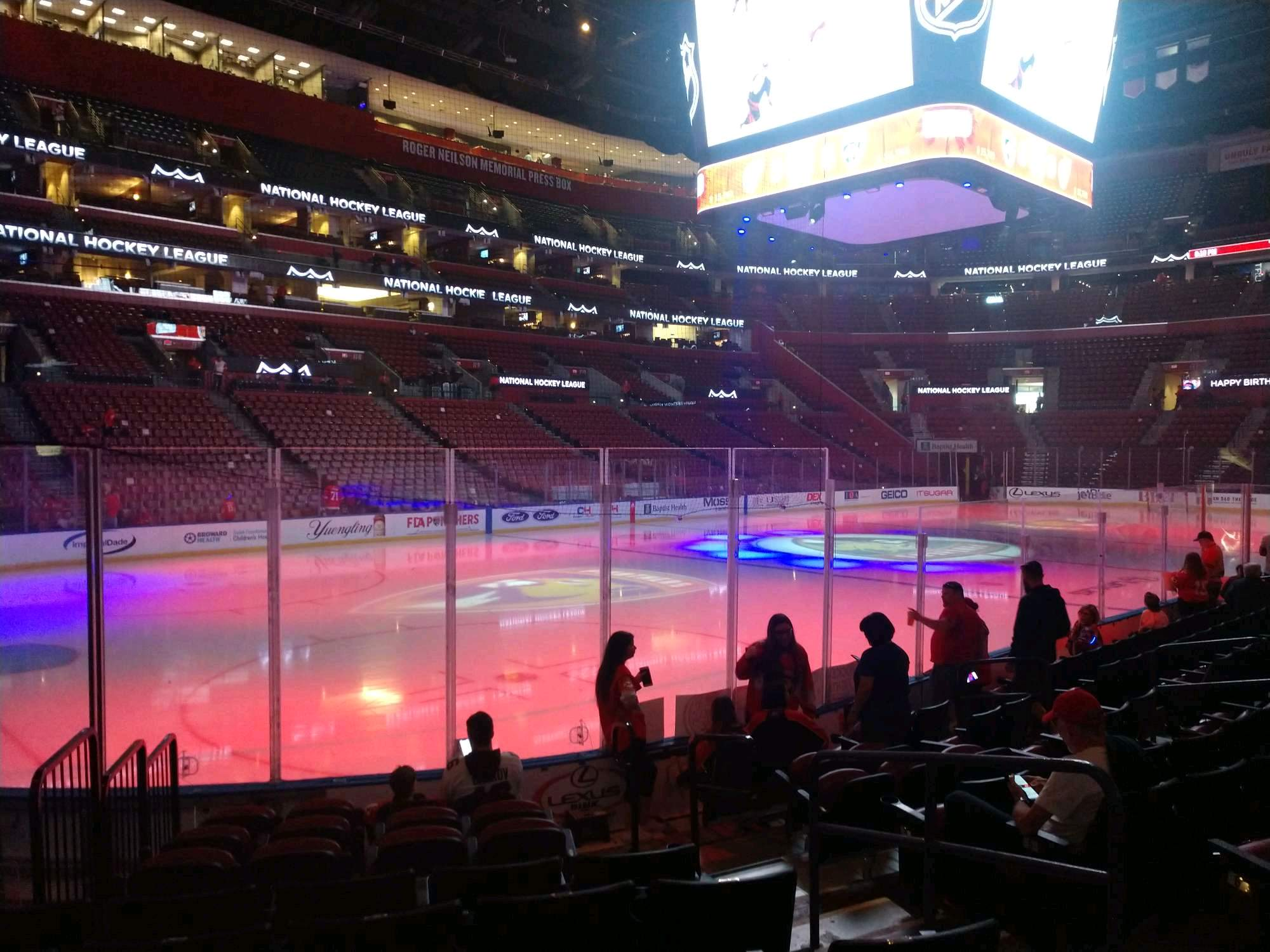 BB&T Center Section 105 Row 9 Seat 4