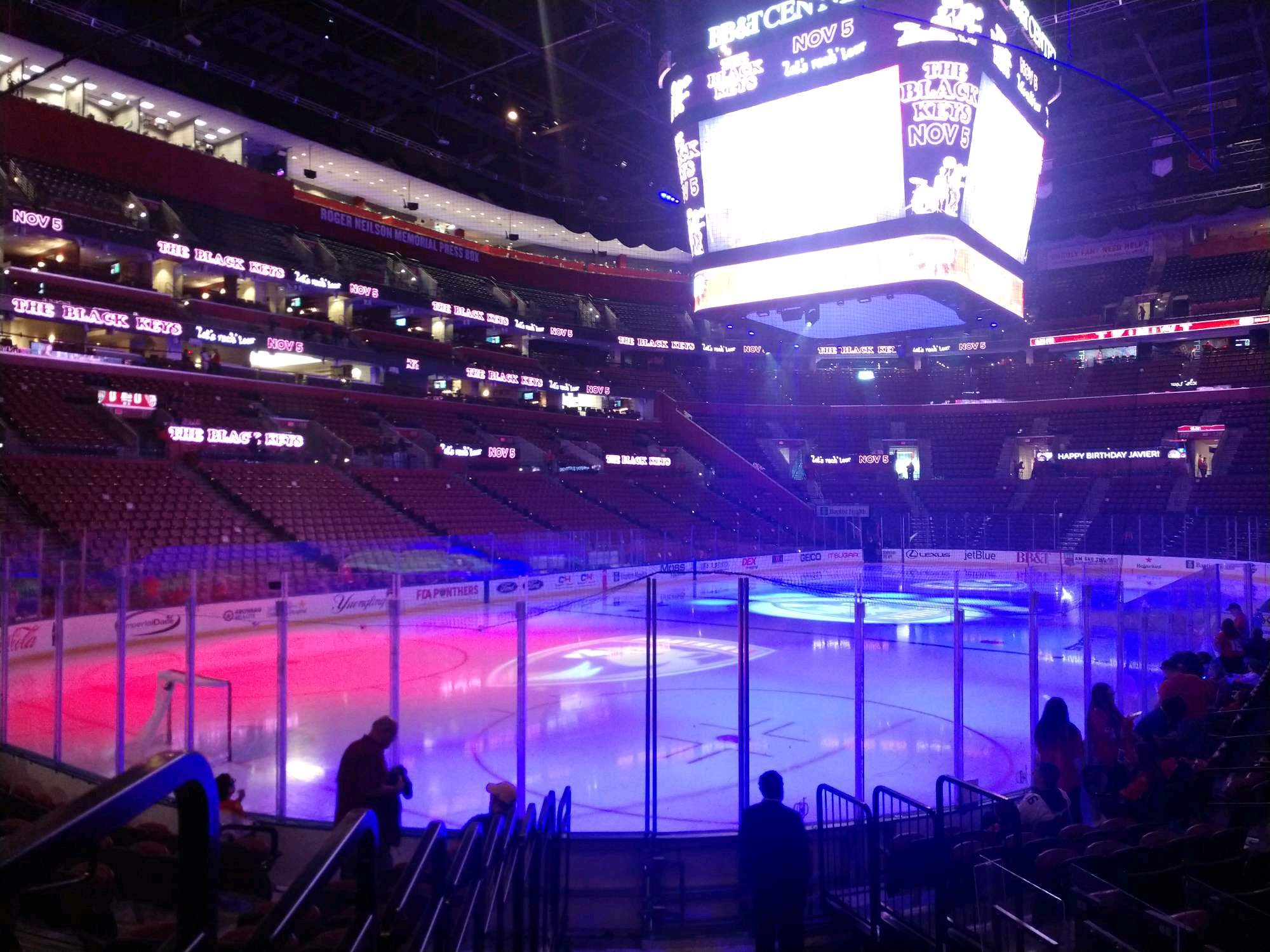 BB&T Center Section 107 Row 11 Seat 6