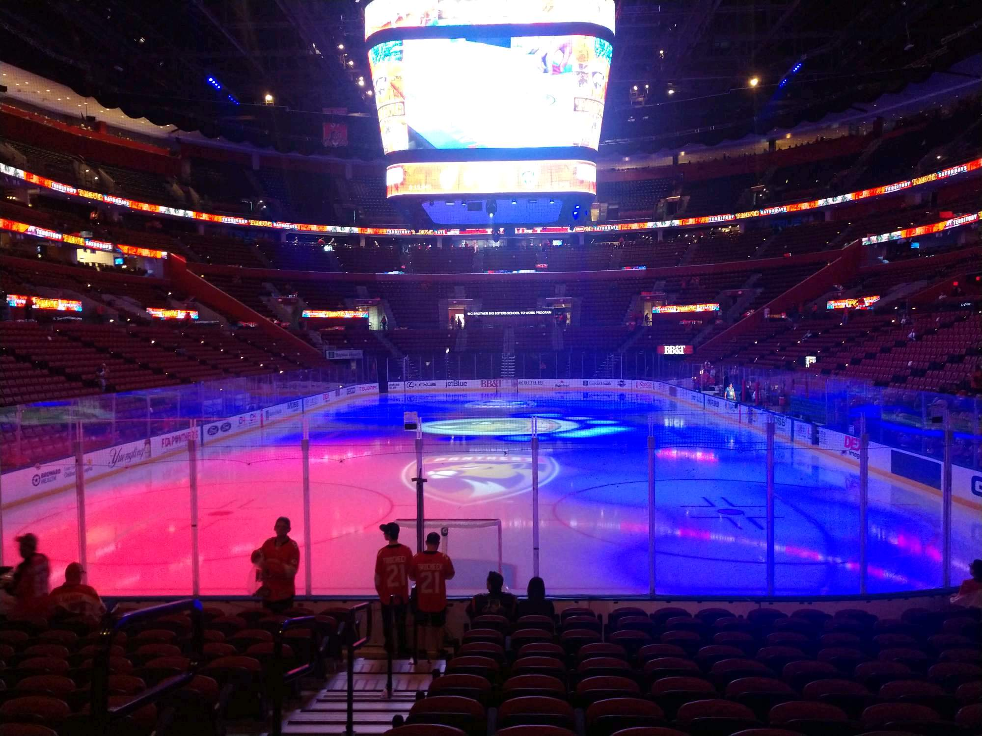 BB&T Center Section 108 Row 12 Seat 21
