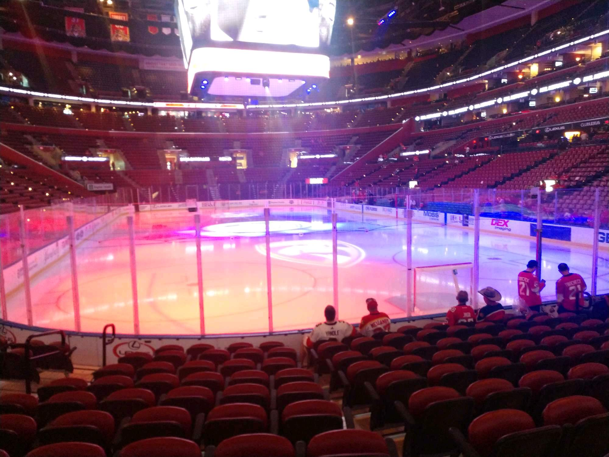 BB&T Center Section 111 Row 10 Seat 13