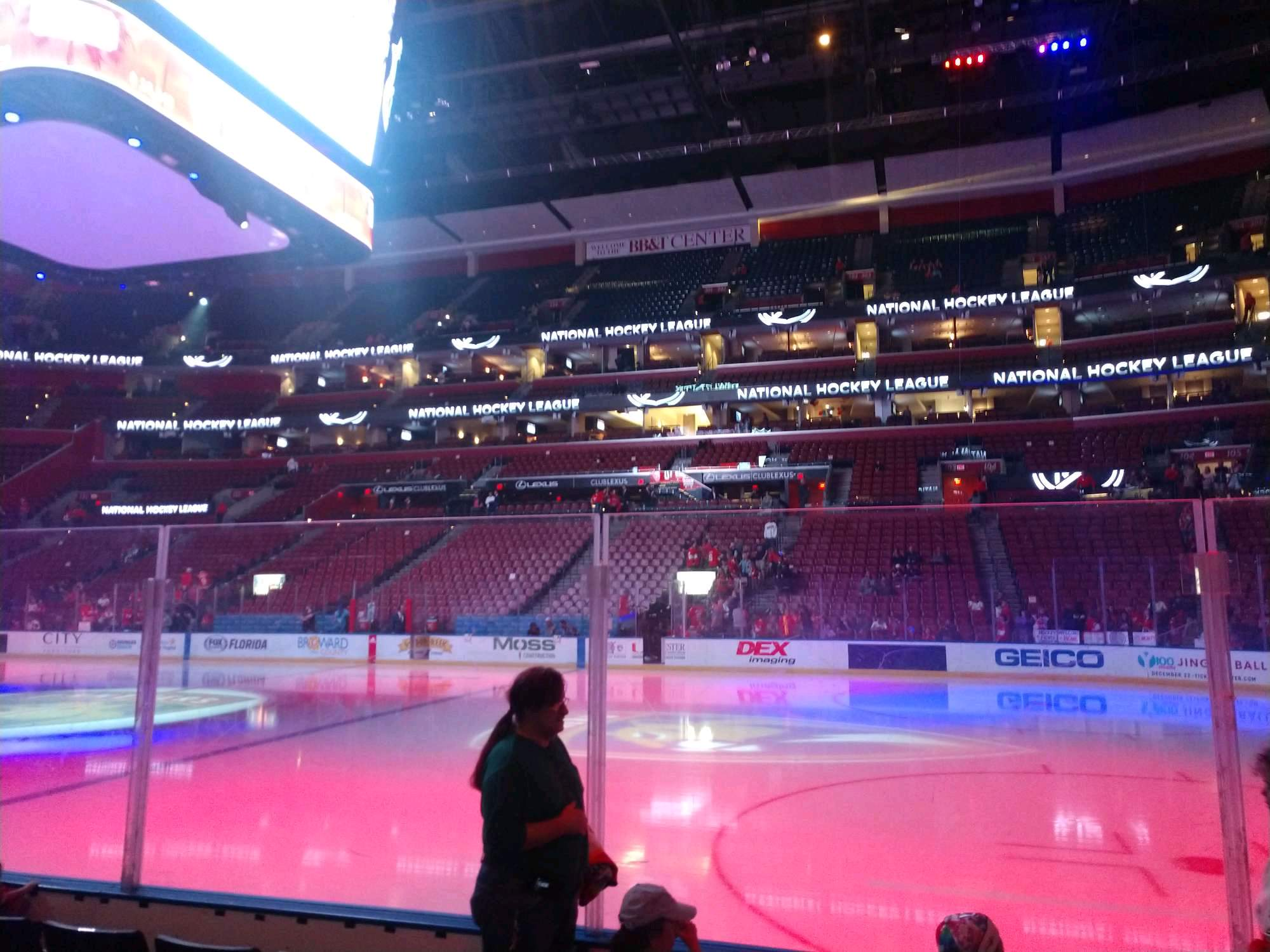 BB&T Center Section 116 Row 5 Seat 4