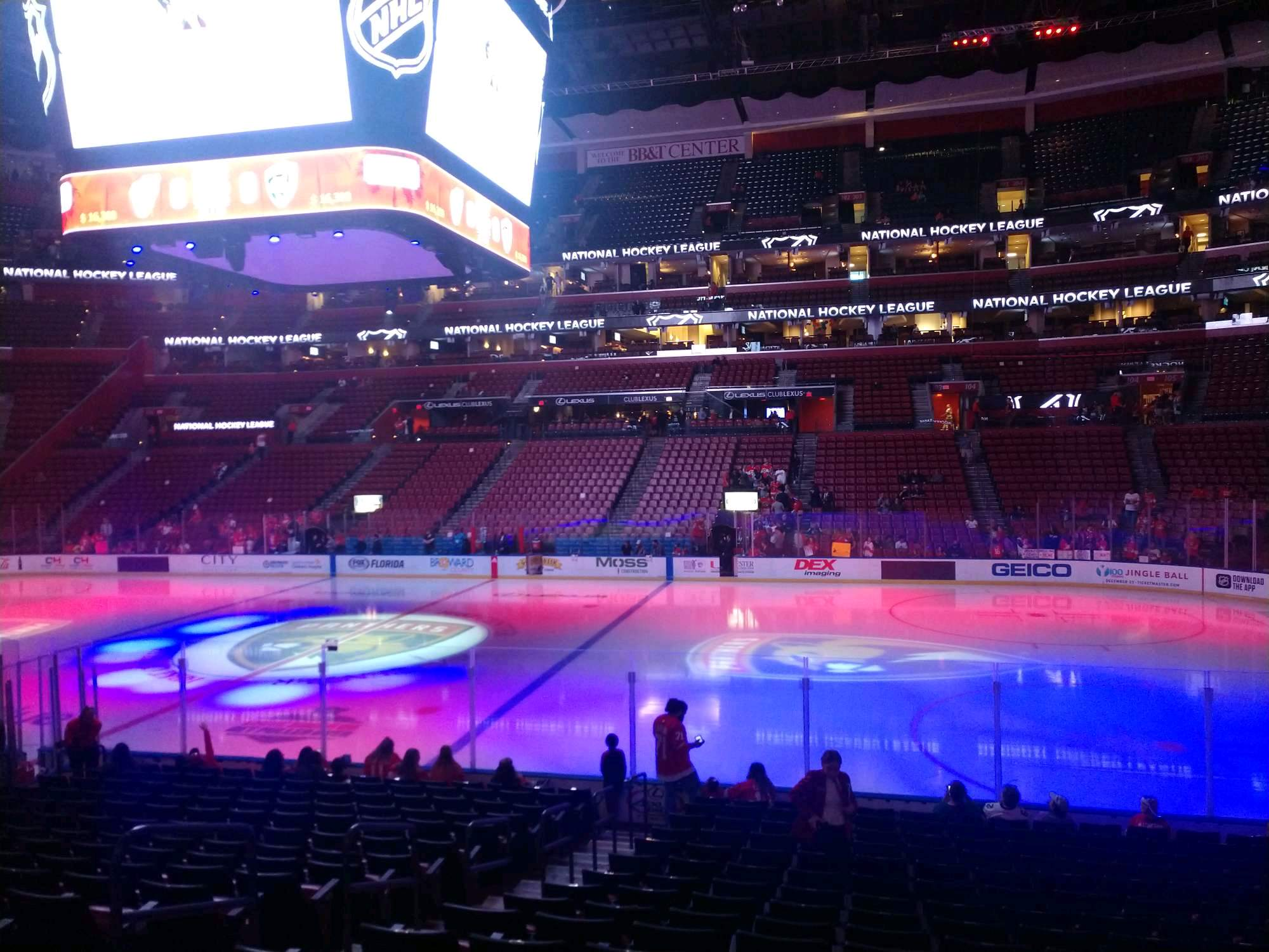 BB&T Center Section 116 Row 16 Seat 10