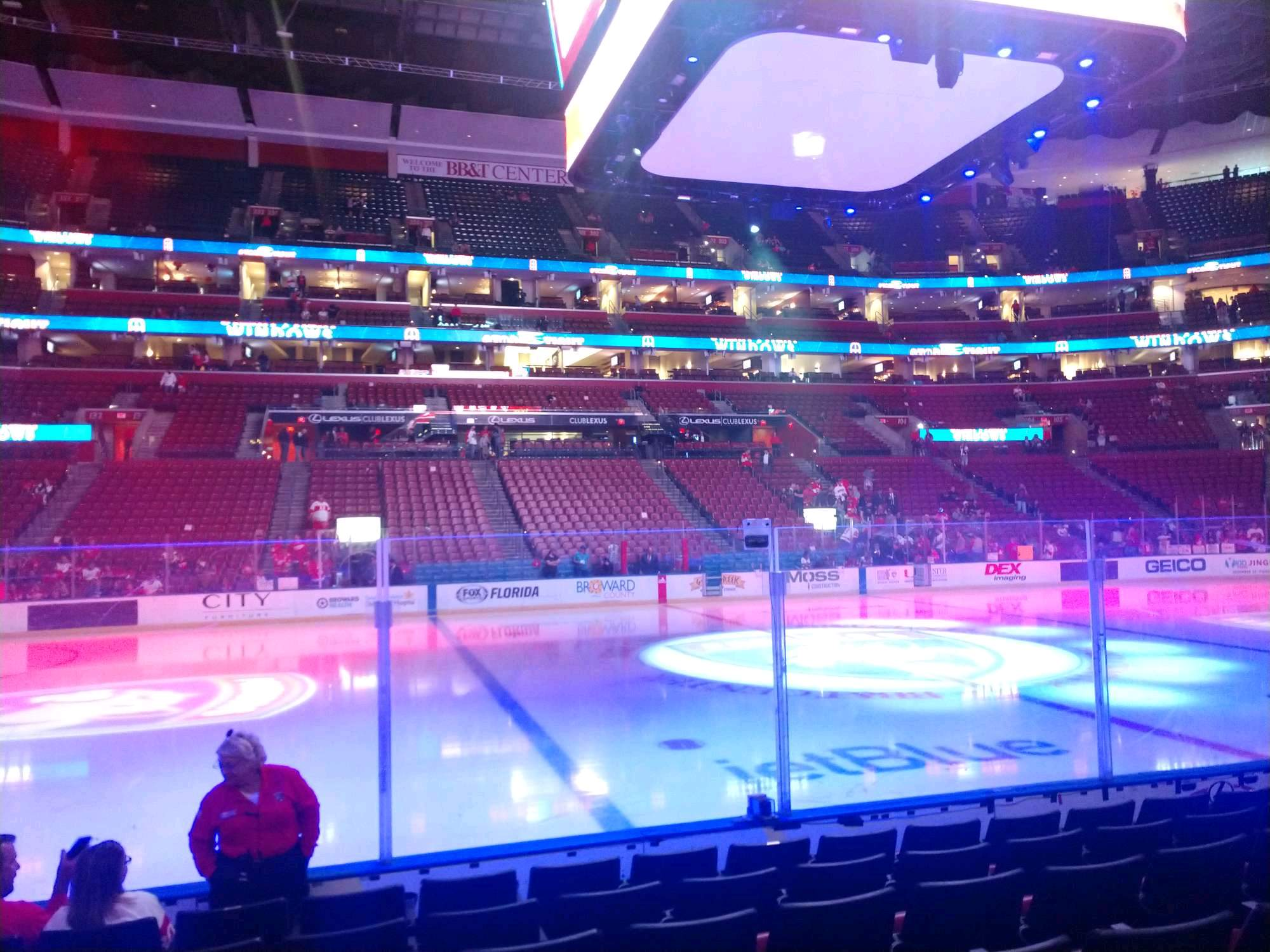 BB&T Center Section 119 Row 7 Seat 11