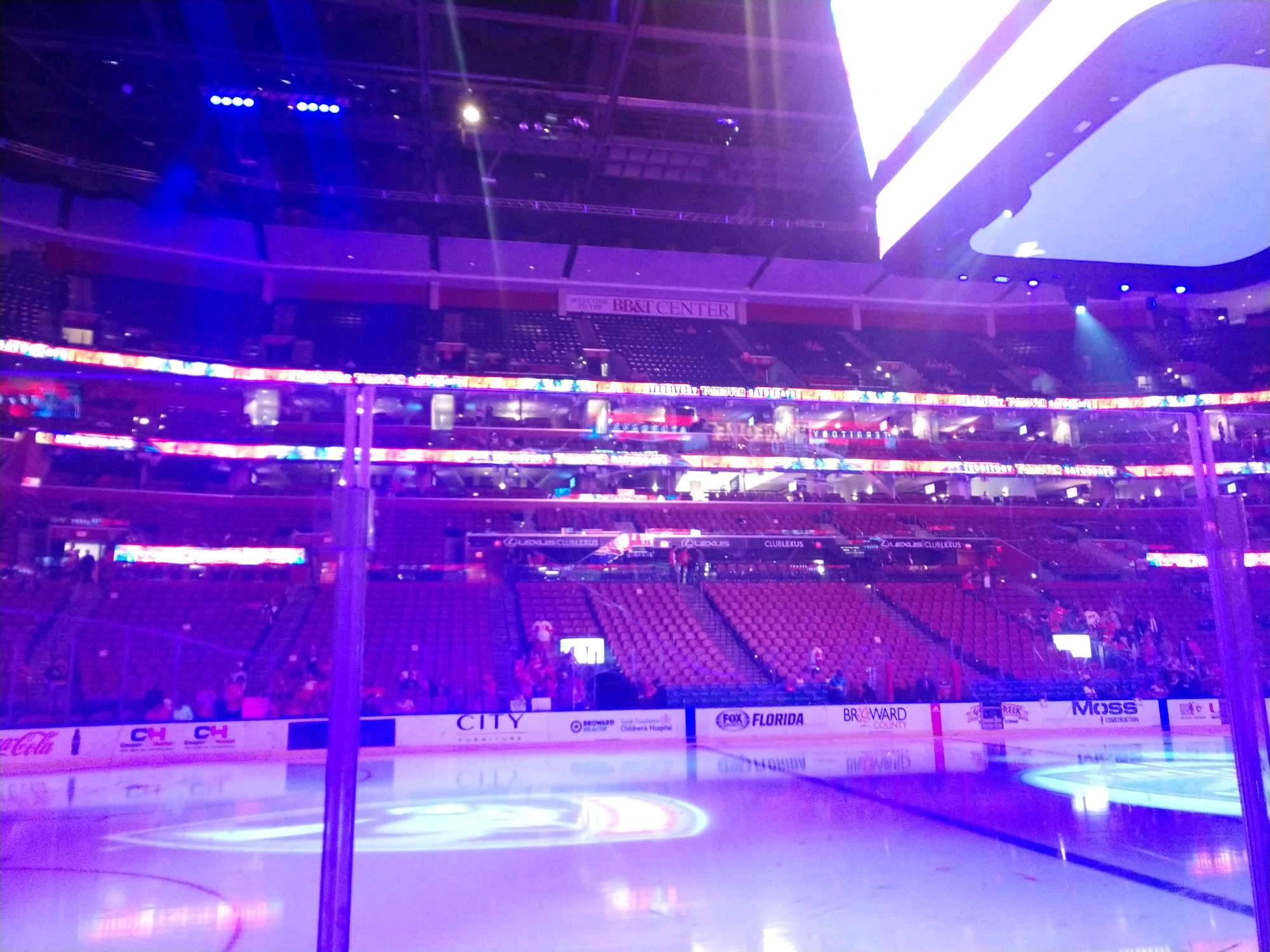 BB&T Center Section 120 Row 3 Seat 3