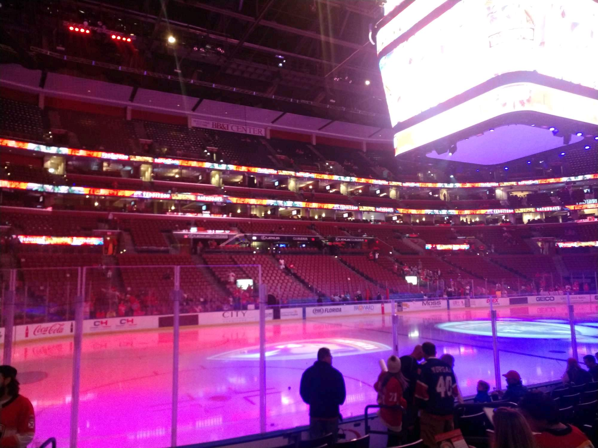 BB&T Center Section 121 Row 8 Seat 7
