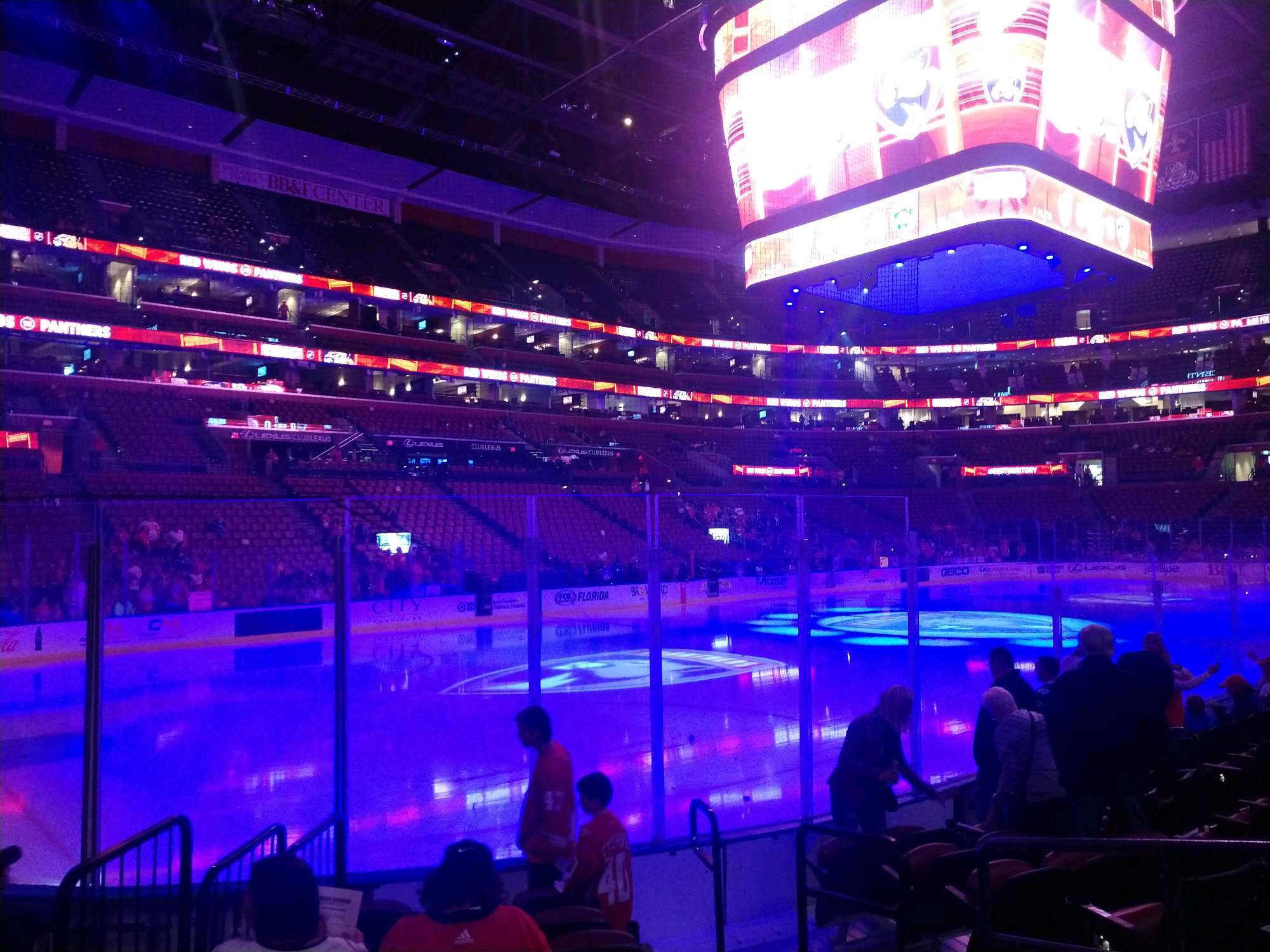 BB&T Center Section 122 Row 8 Seat 4