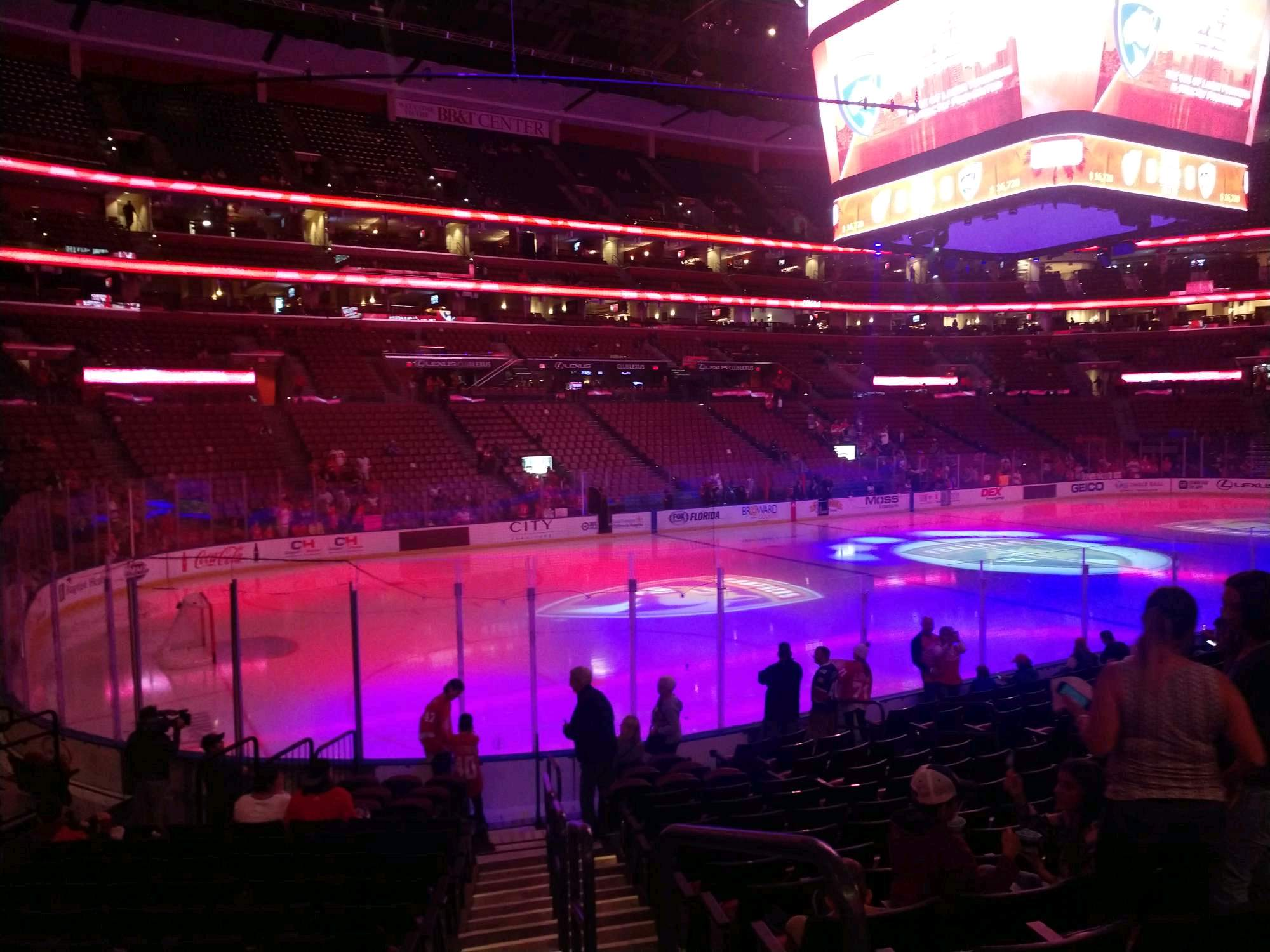 BB&T Center Section 122 Row 14 Seat 1