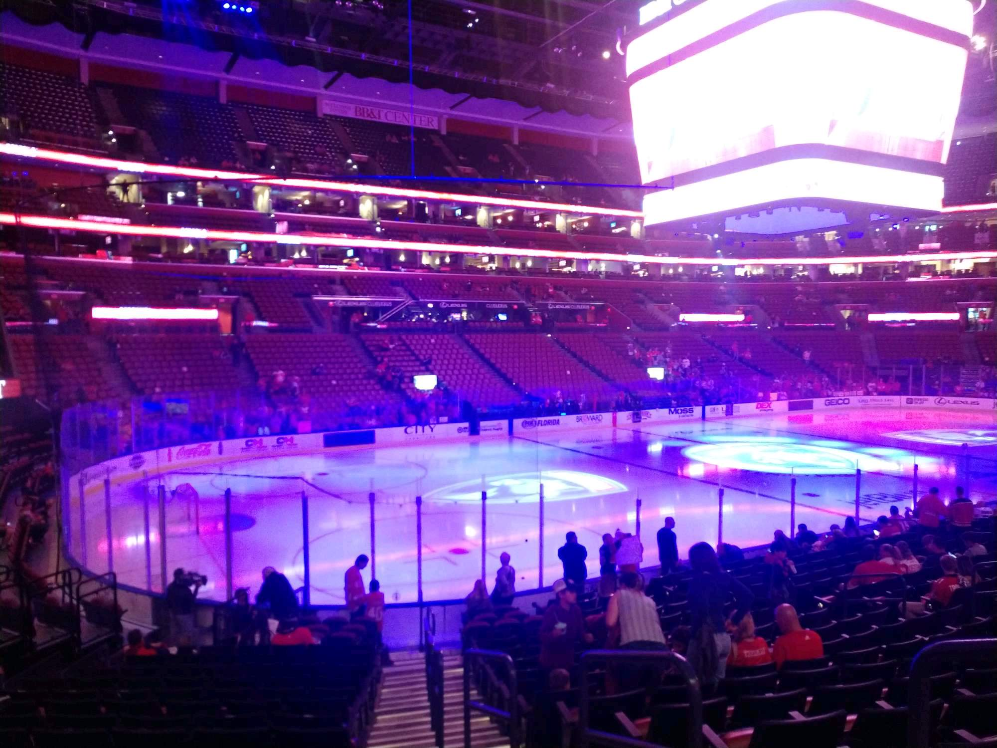 BB&T Center Section 122 Row 17 Seat 2