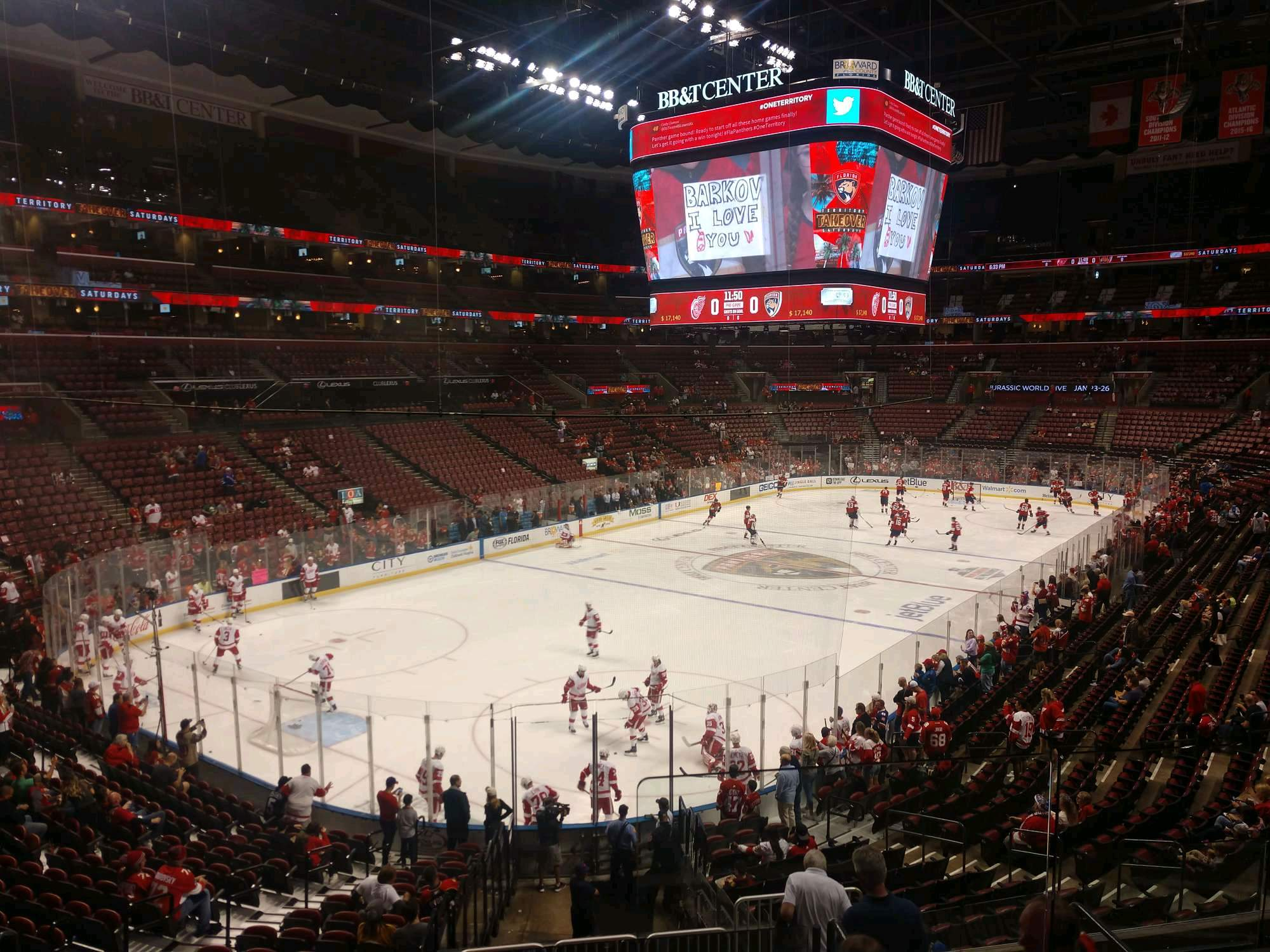BB&T Center Section 124 Row 21 Seat 5