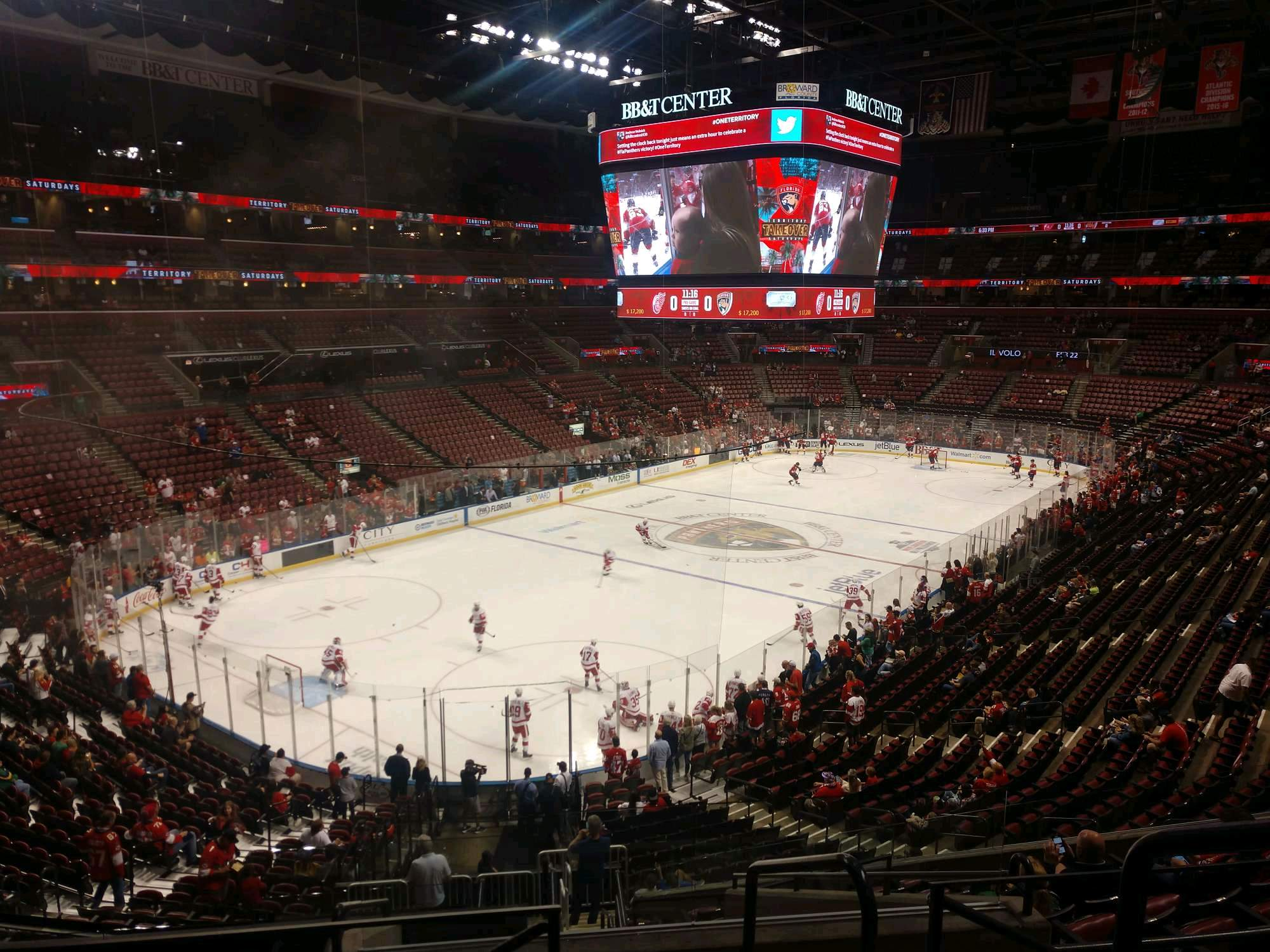 BB&T Center Section 124 Row 26 Seat 2