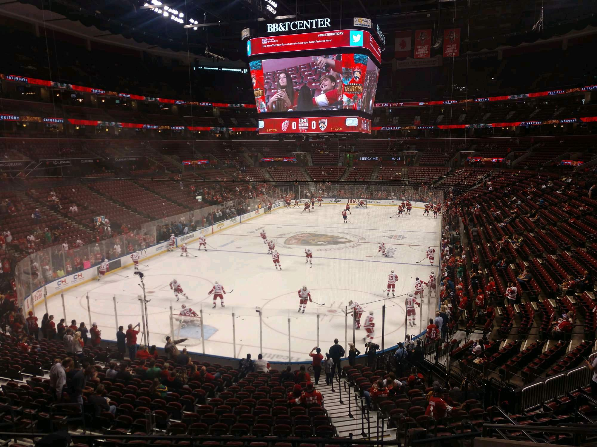 BB&T Center Section 125 Row 22 Seat 7