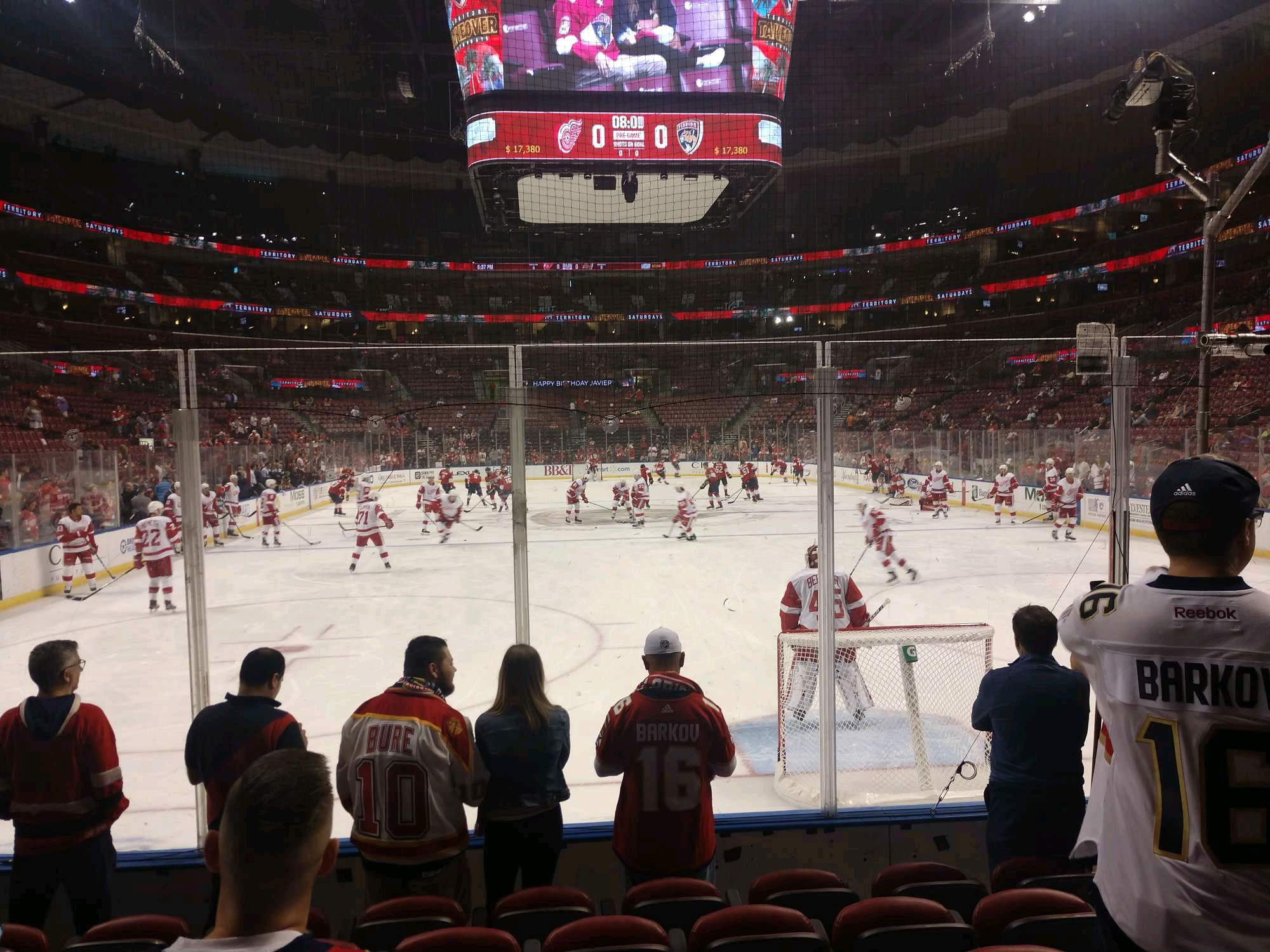 BB&T Center Section 128 Row 6 Seat 5