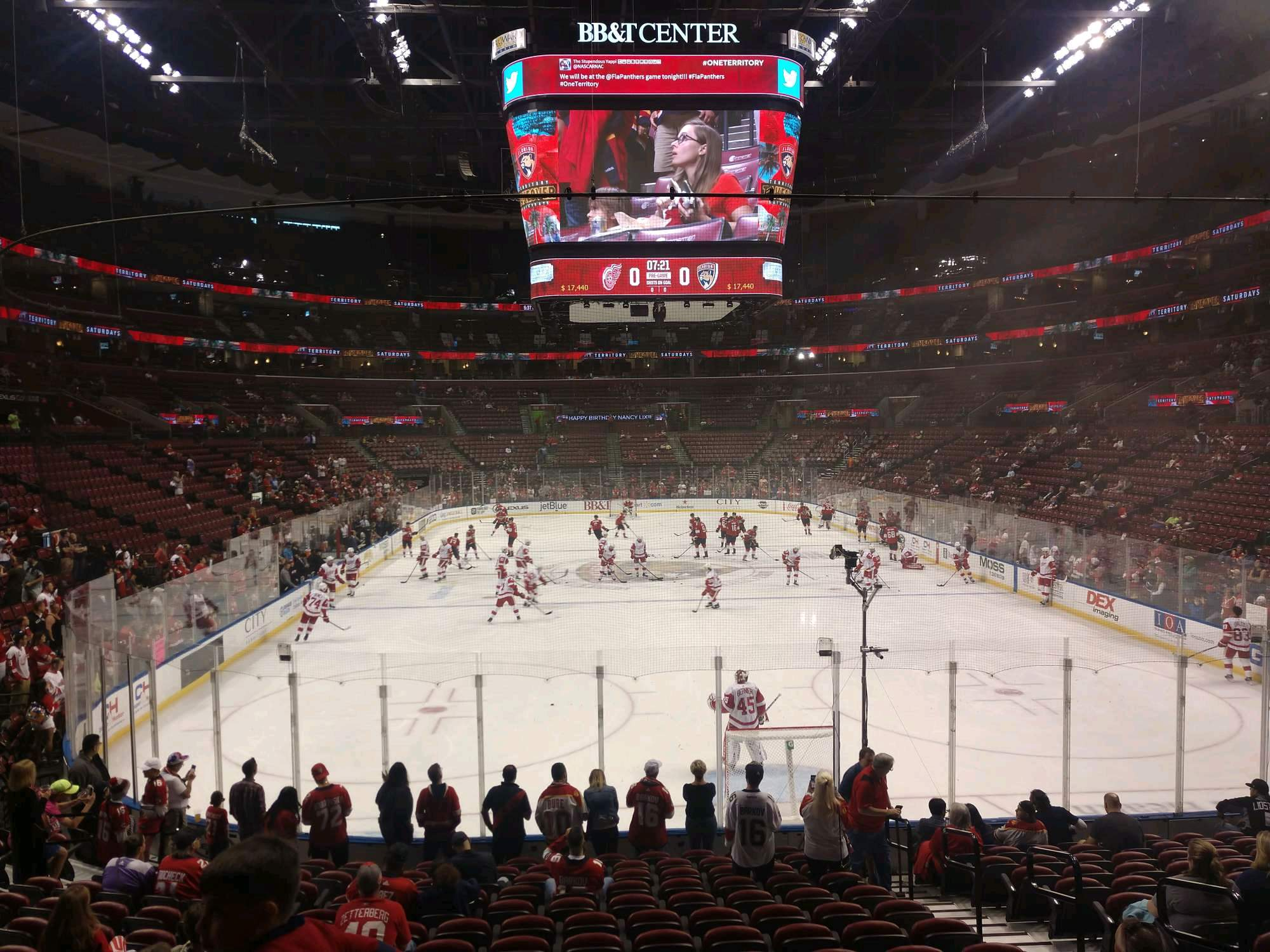 BB&T Center Section 128 Row 15 Seat 6