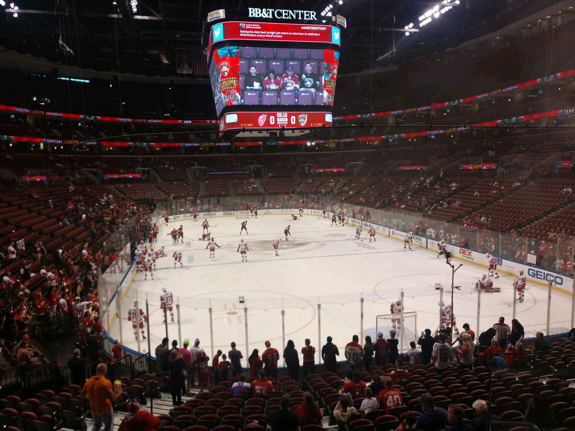 BB&T Center Section 128 Row 17 Seat 7