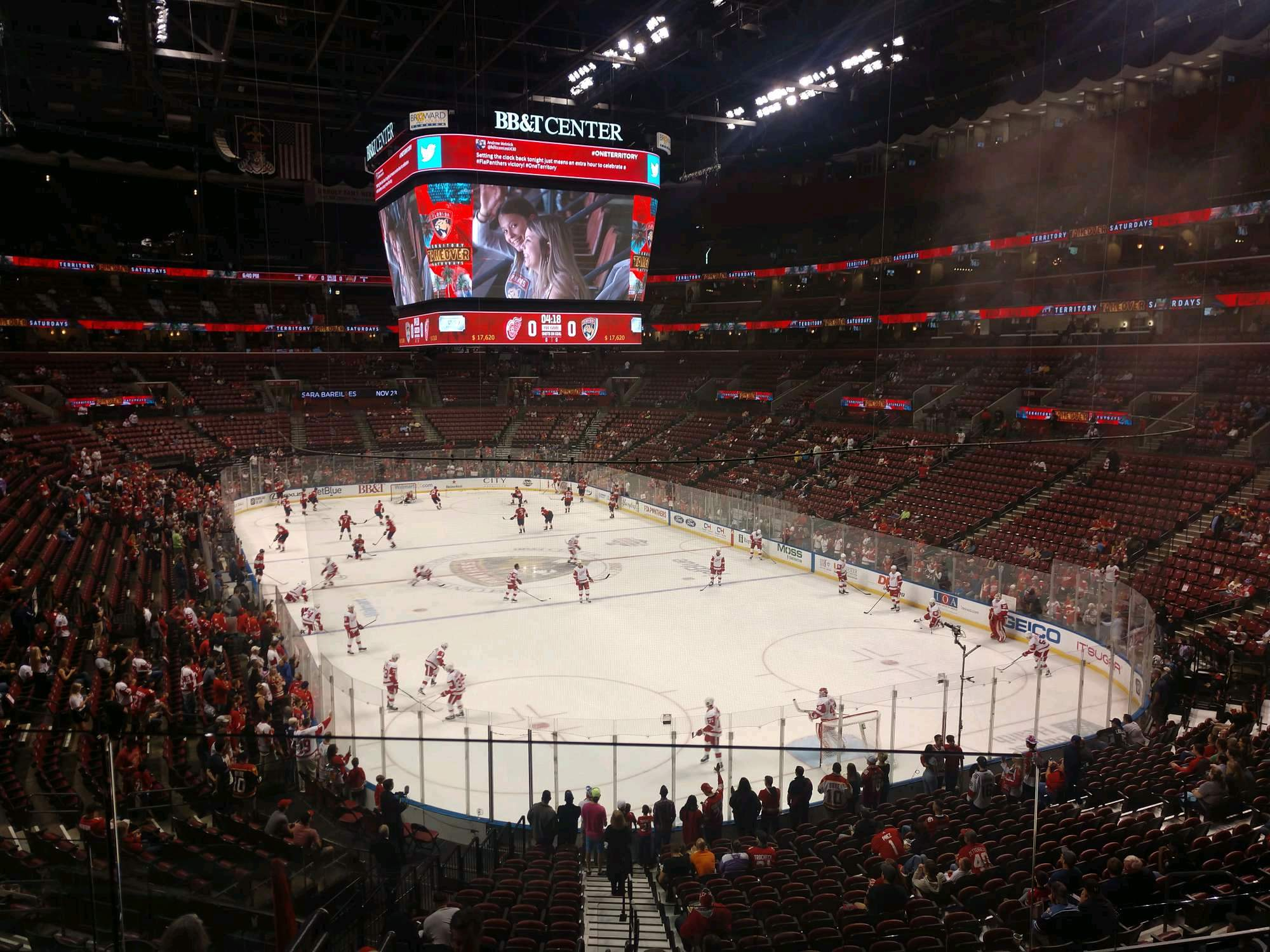 BB&T Center Section 128 Row 23 Seat 21